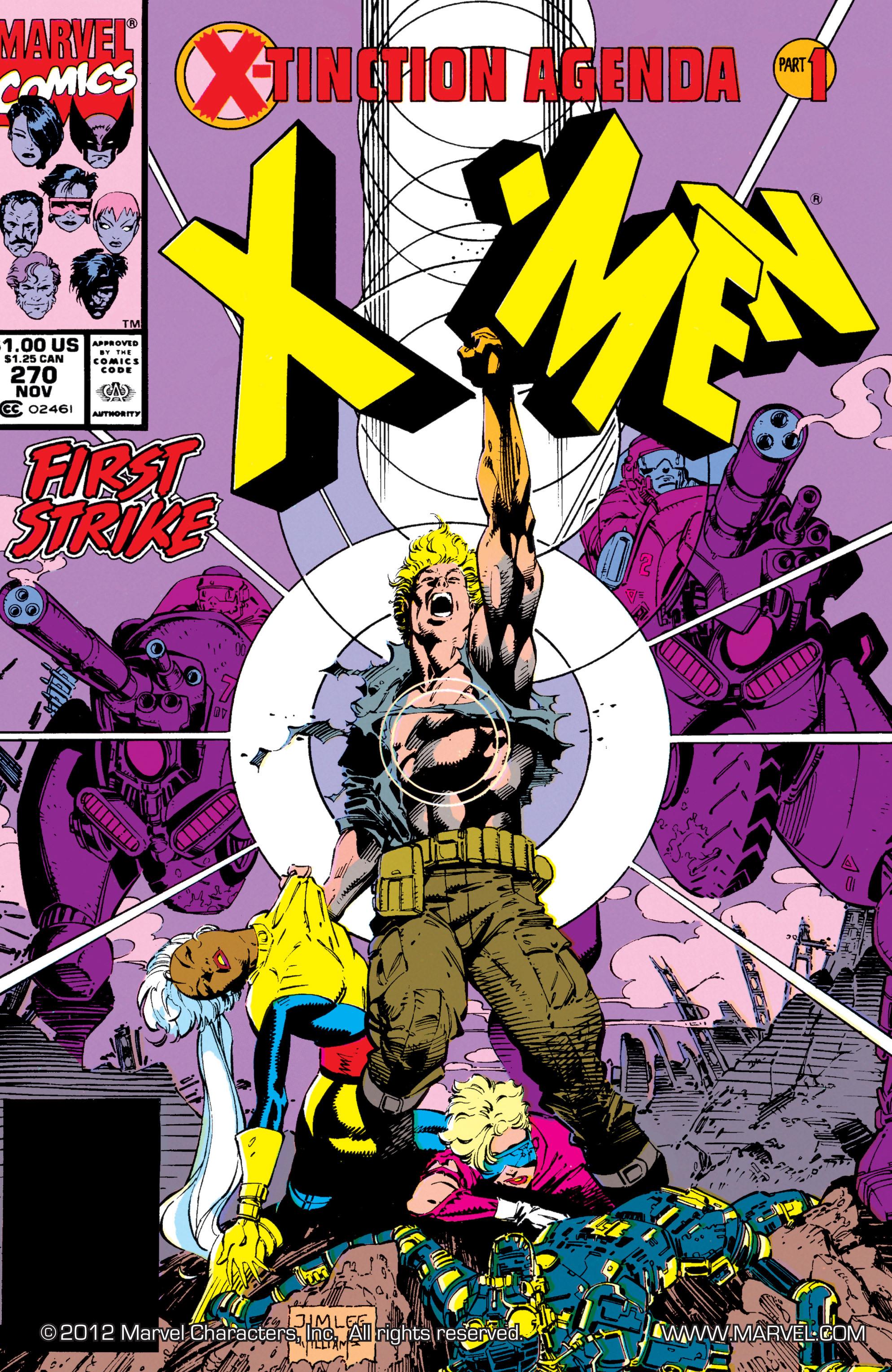 Read online Uncanny X-Men (1963) comic -  Issue #270 - 1