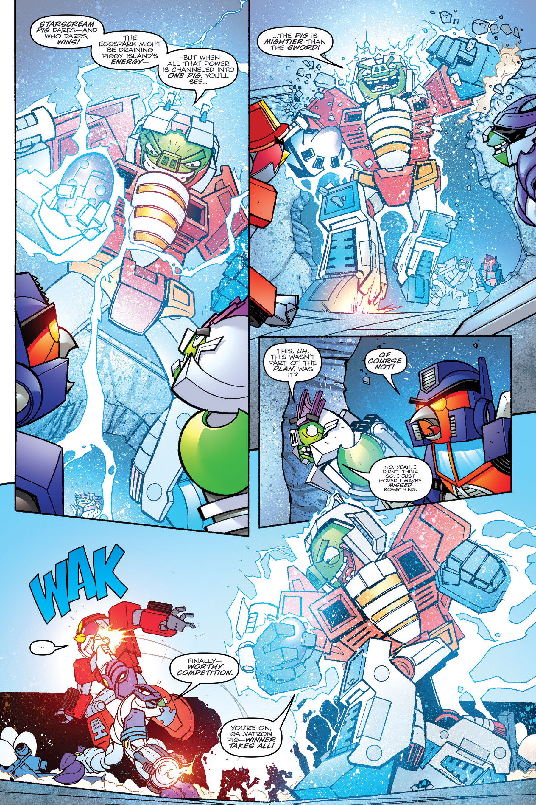 Read online Angry Birds Transformers: Age of Eggstinction comic -  Issue # Full - 84