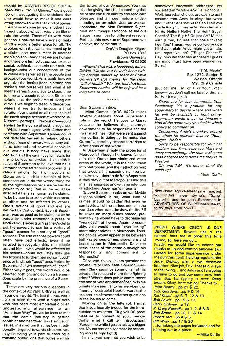 Read online Adventures of Superman (1987) comic -  Issue #431 - 24