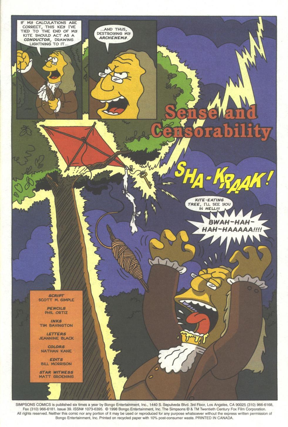 Read online Simpsons Comics comic -  Issue #39 - 2