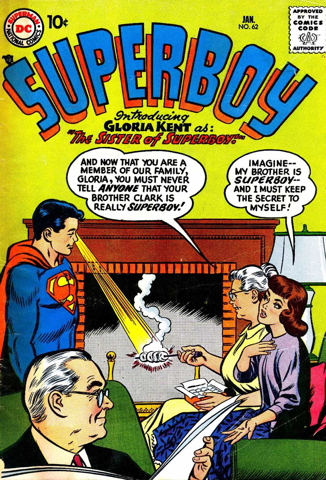 Superboy (1949) issue 62 - Page 1
