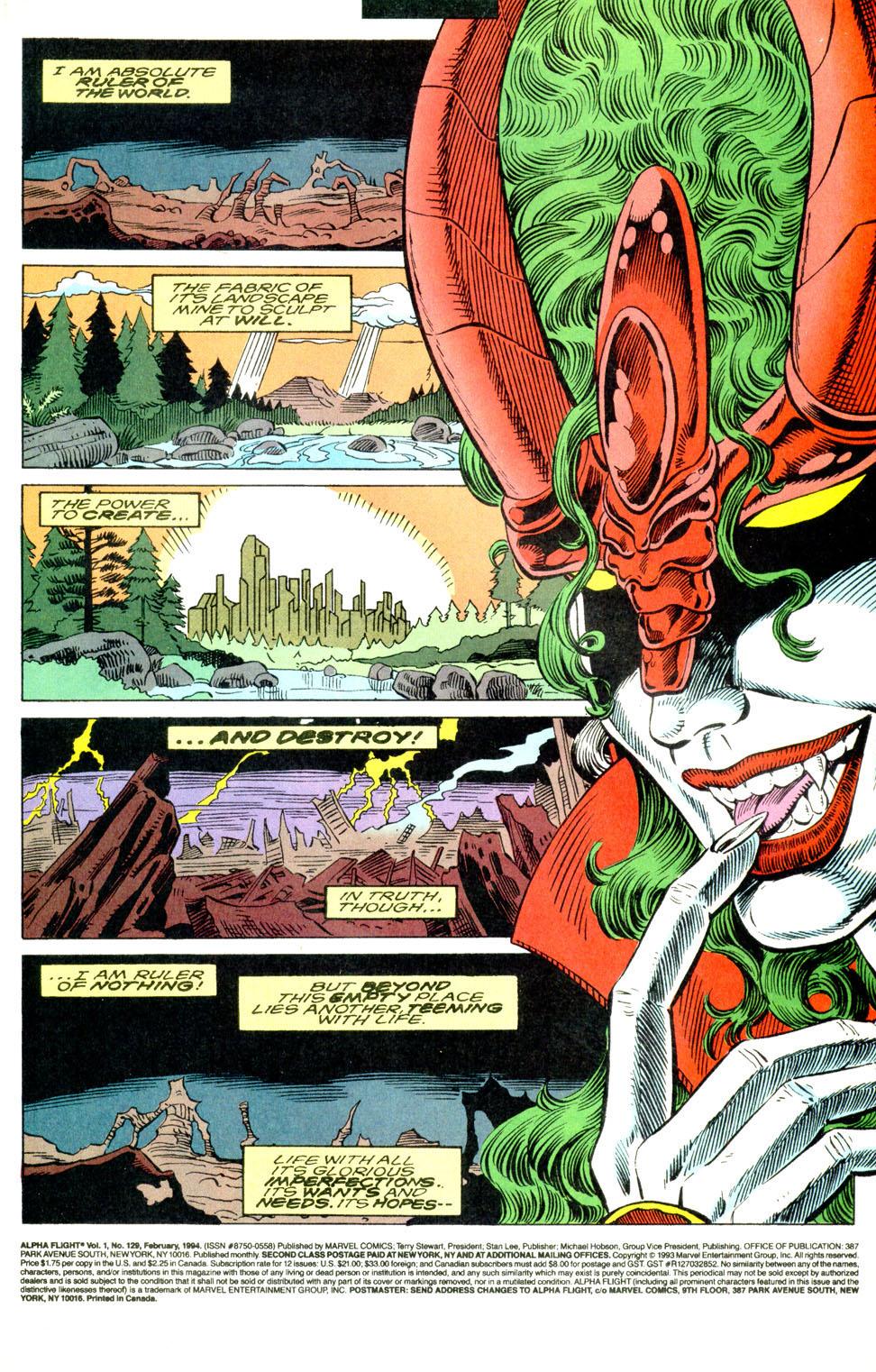 Read online Alpha Flight (1983) comic -  Issue #129 - 3