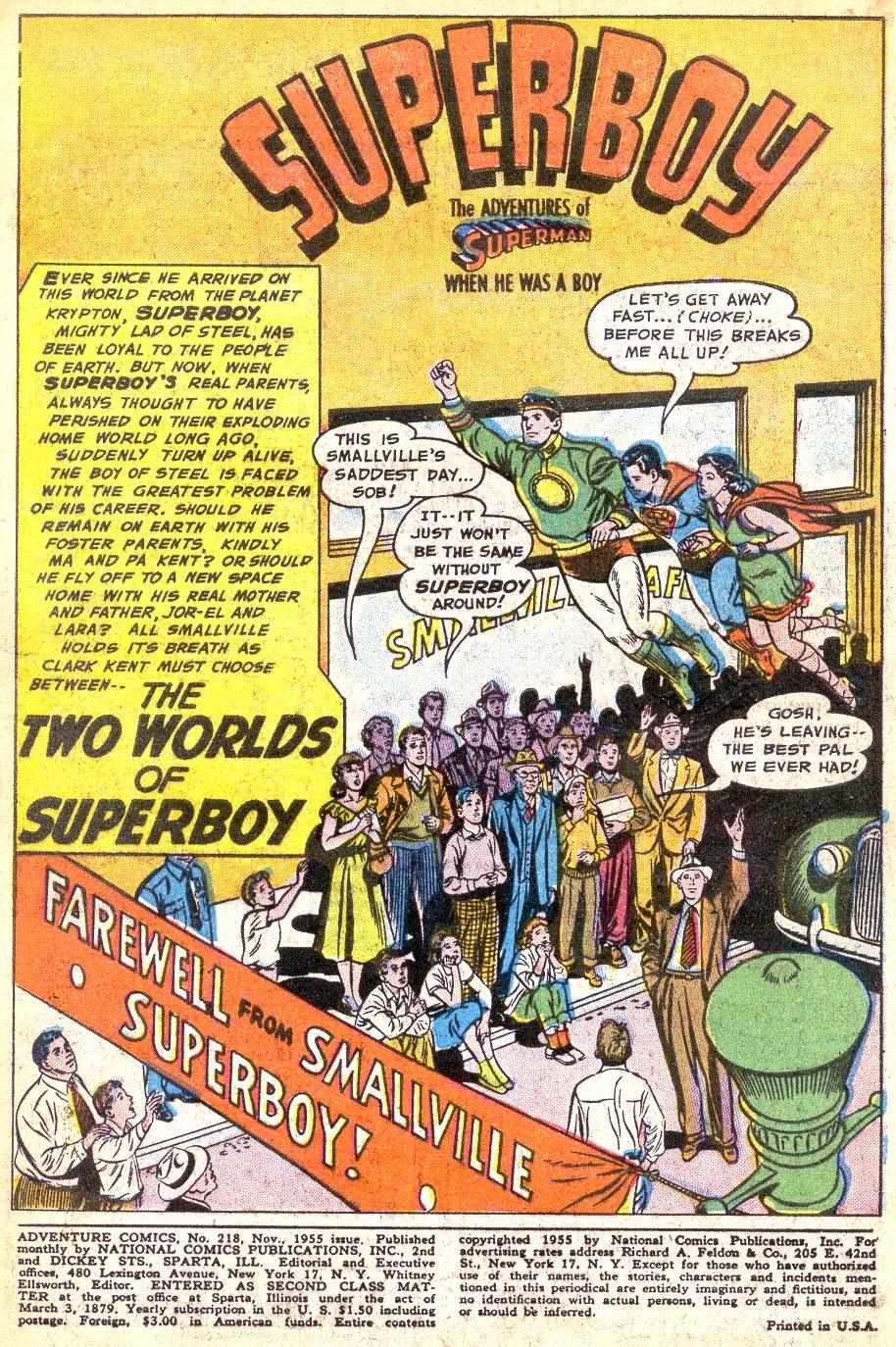Read online Adventure Comics (1938) comic -  Issue #218 - 3