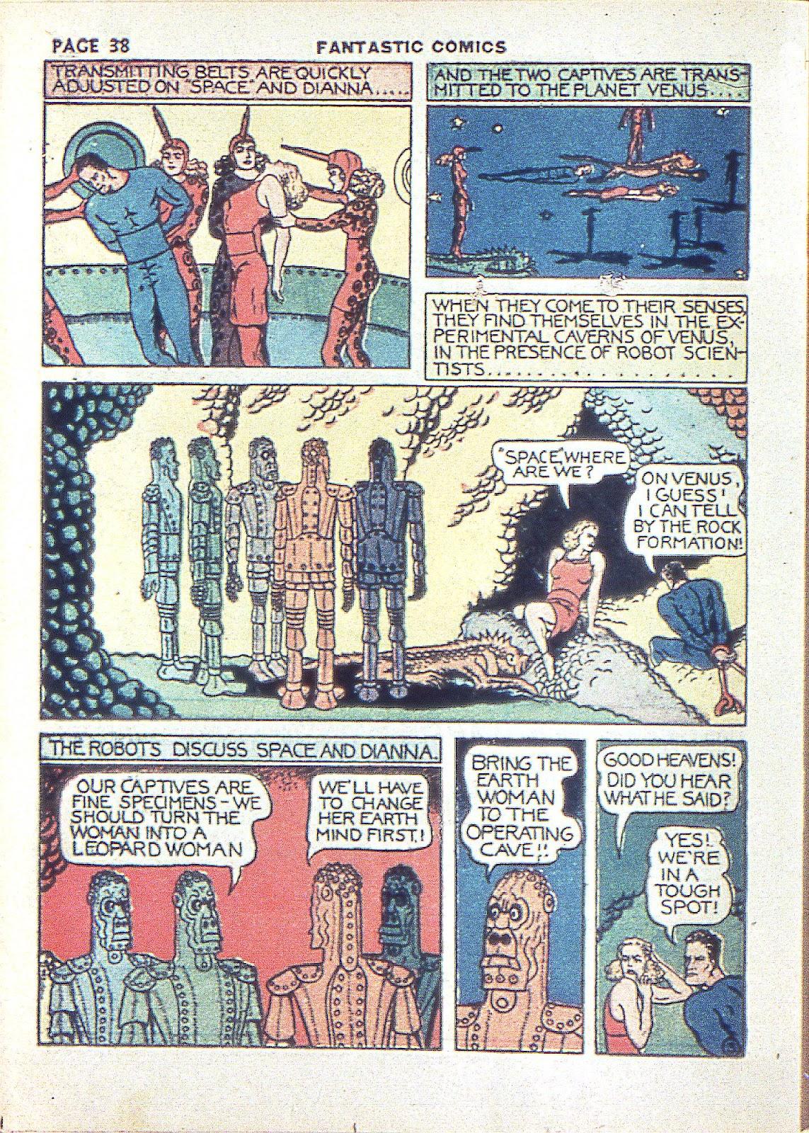 Read online Fantastic Comics comic -  Issue #3 - 40