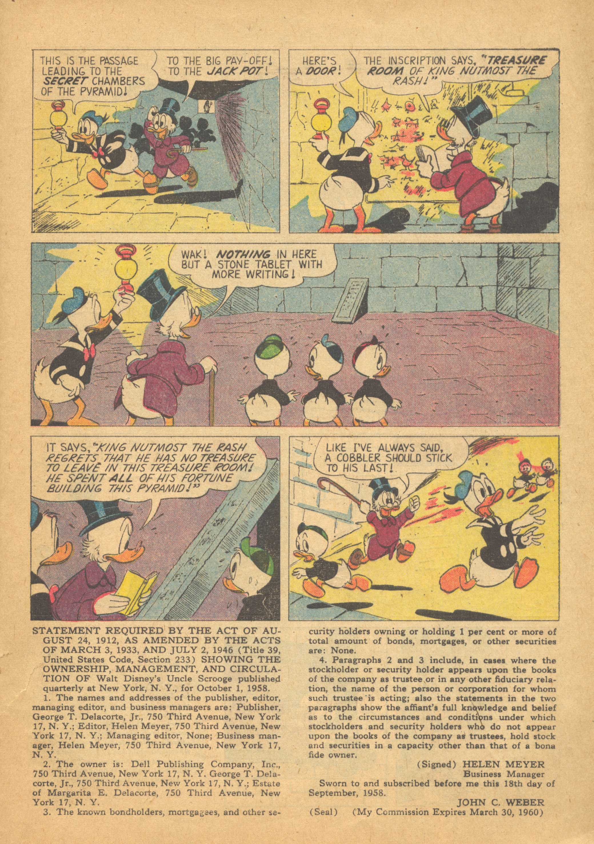 Read online Uncle Scrooge (1953) comic -  Issue #25 - 33
