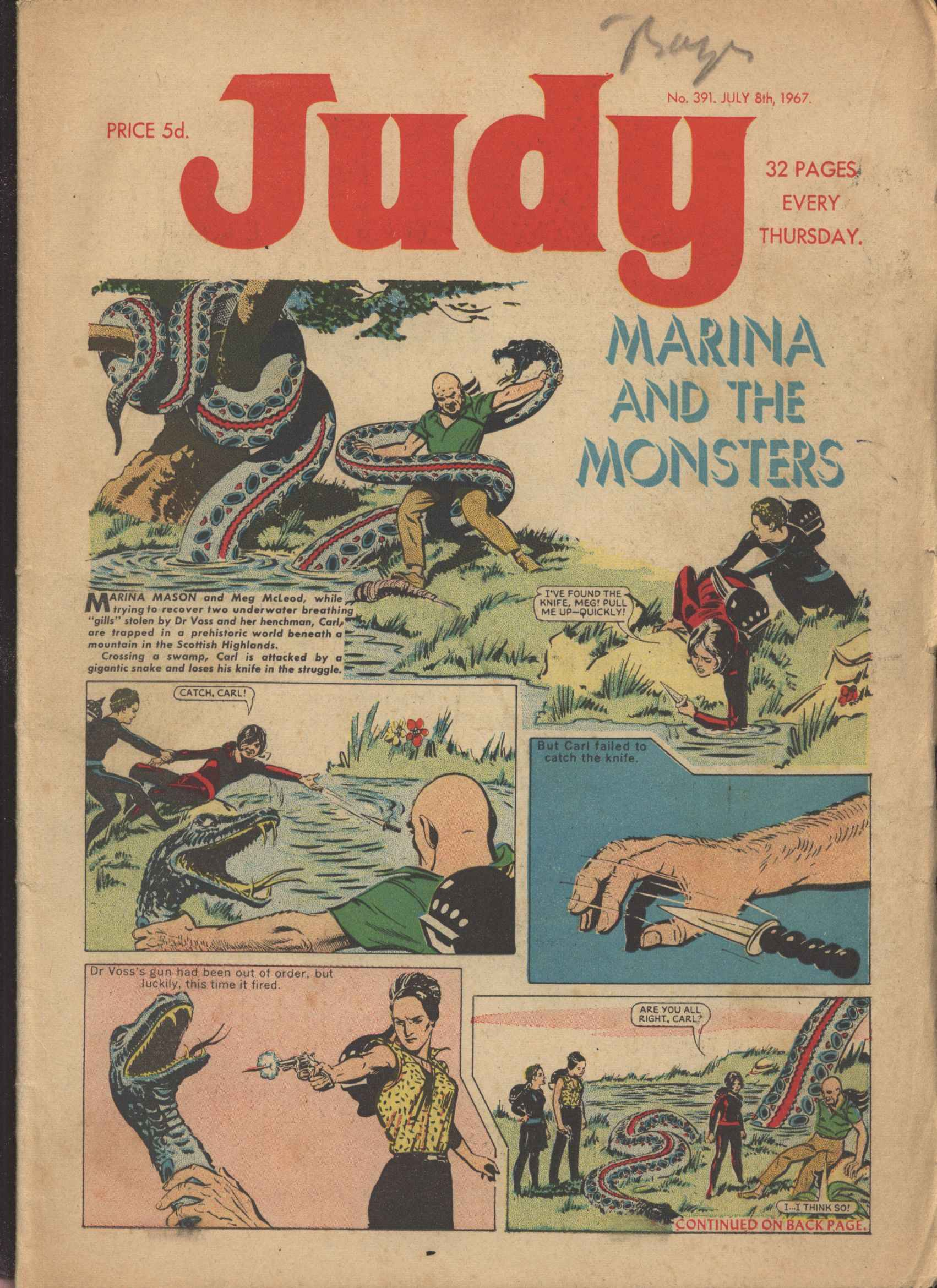 Read online Judy comic -  Issue #391 - 1