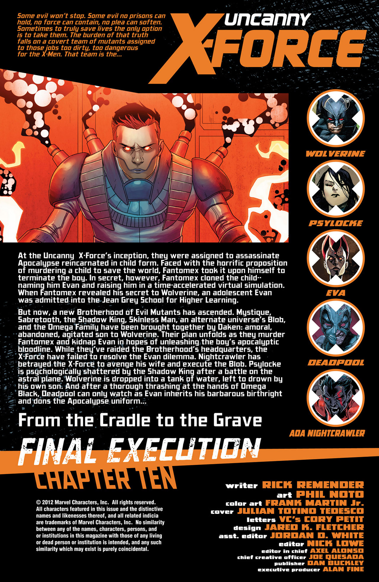 Read online Uncanny X-Force (2010) comic -  Issue #34 - 2