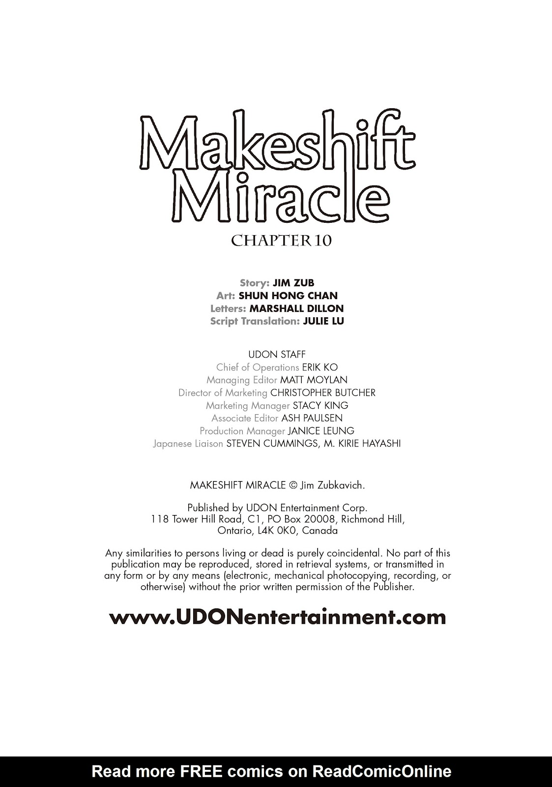 Read online Makeshift Miracle: The Girl From Nowhere comic -  Issue #10 - 2