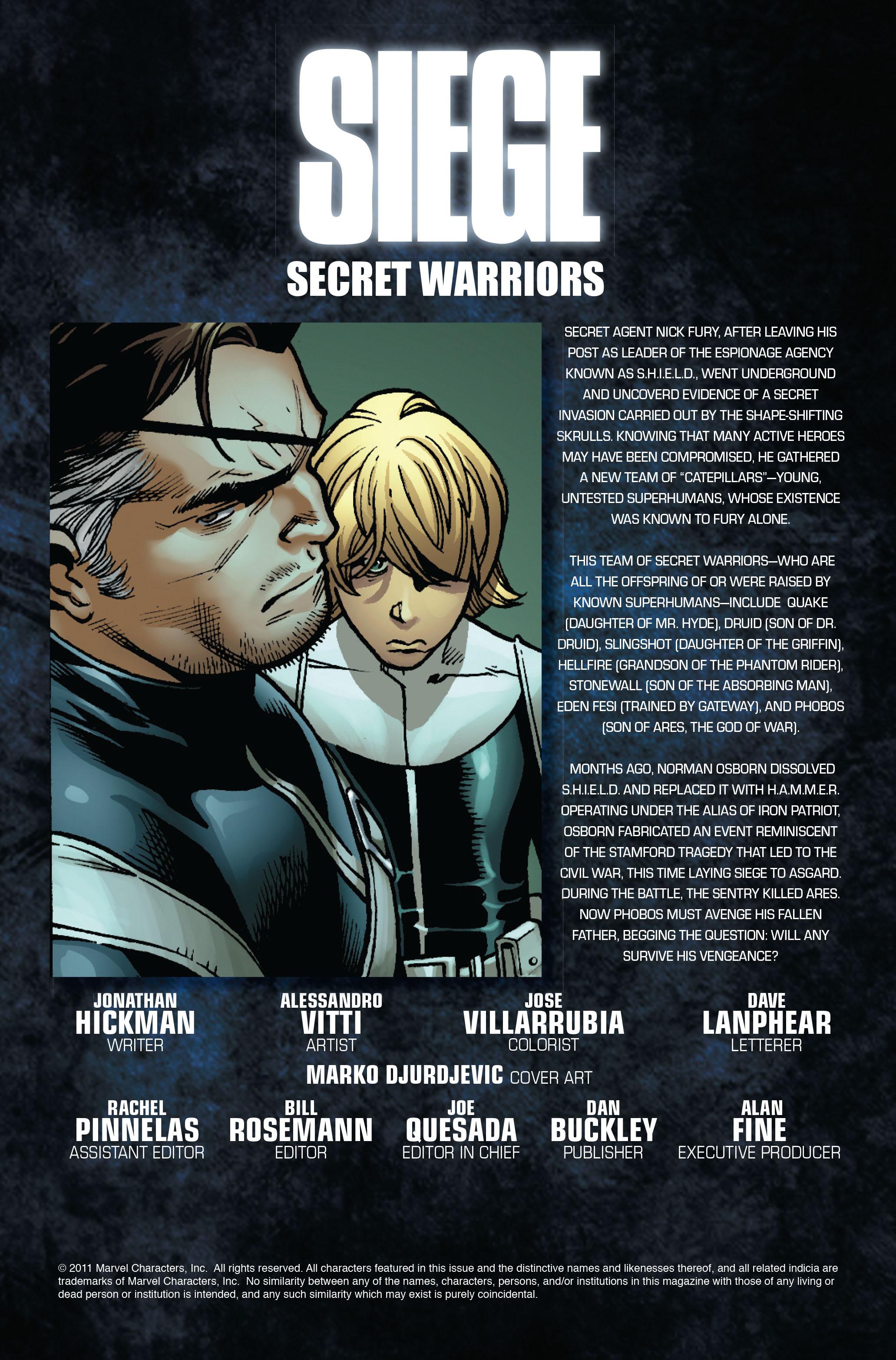 Read online Siege: Secret Warriors comic -  Issue # Full - 2