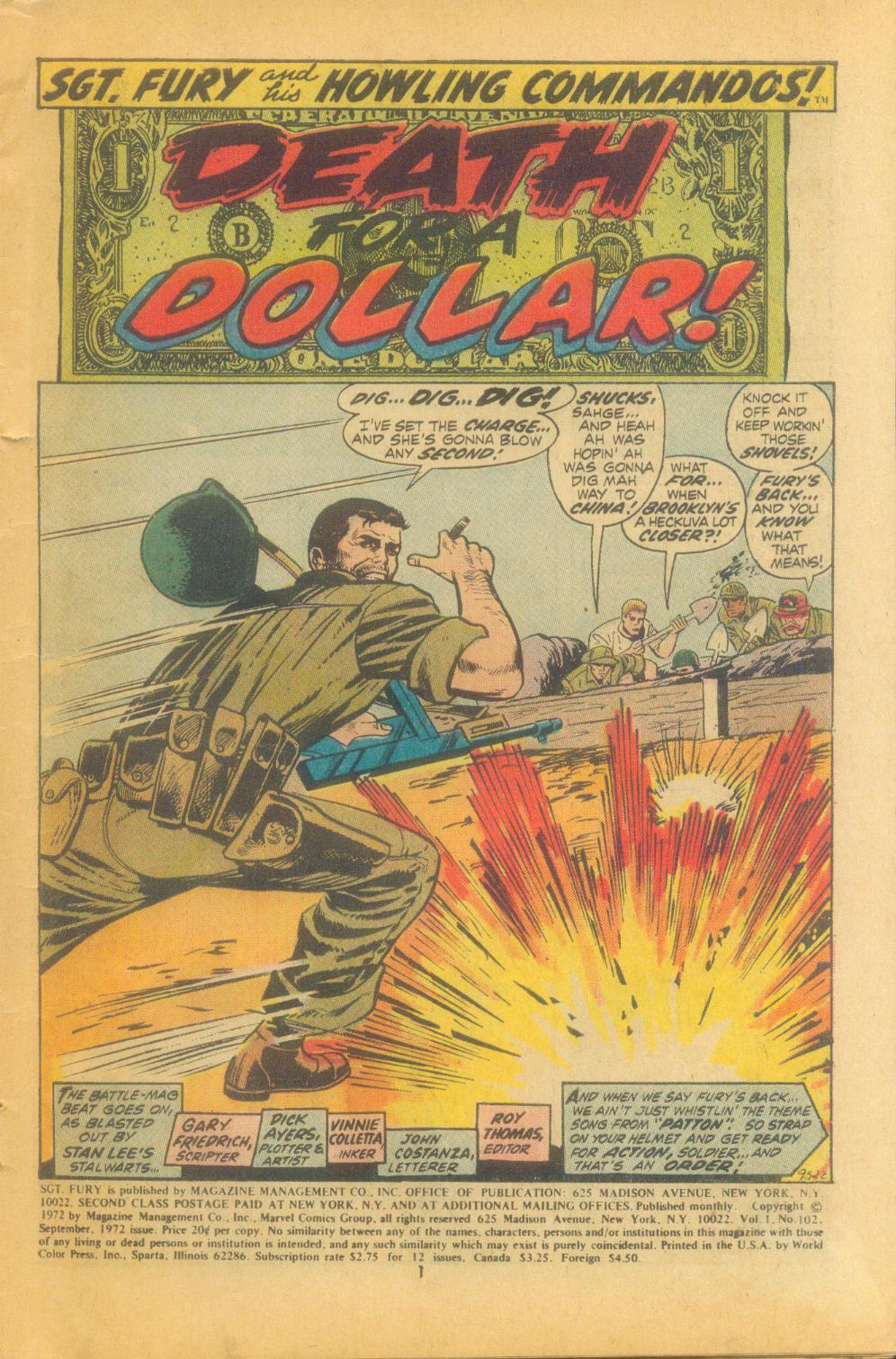 Read online Sgt. Fury comic -  Issue #102 - 3