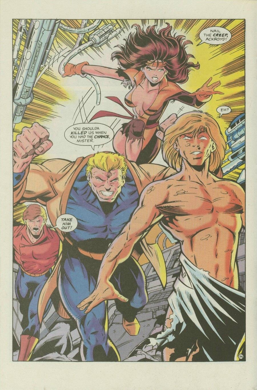Read online Ex-Mutants comic -  Issue #7 - 17