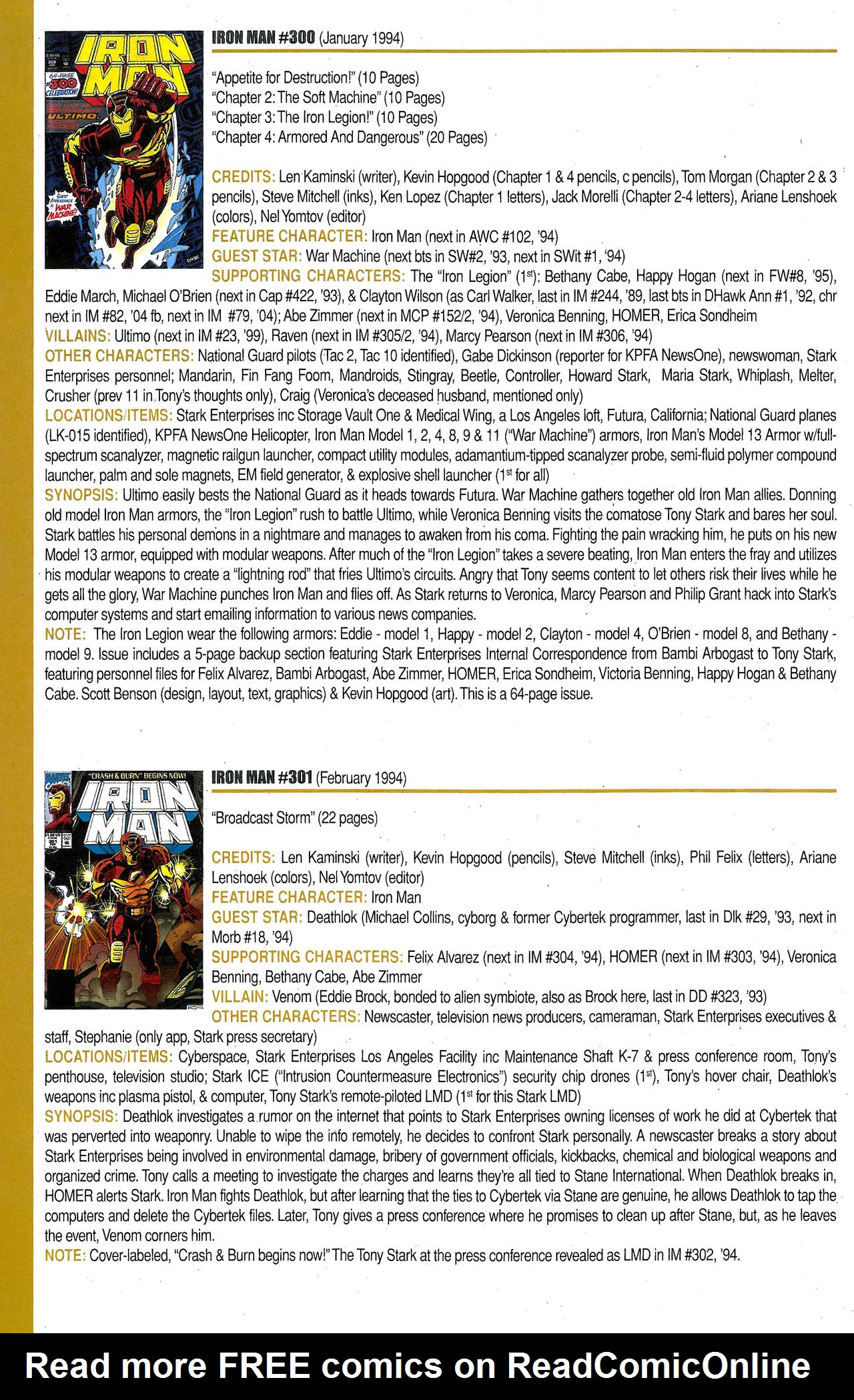 Read online Official Index to the Marvel Universe comic -  Issue #9 - 24