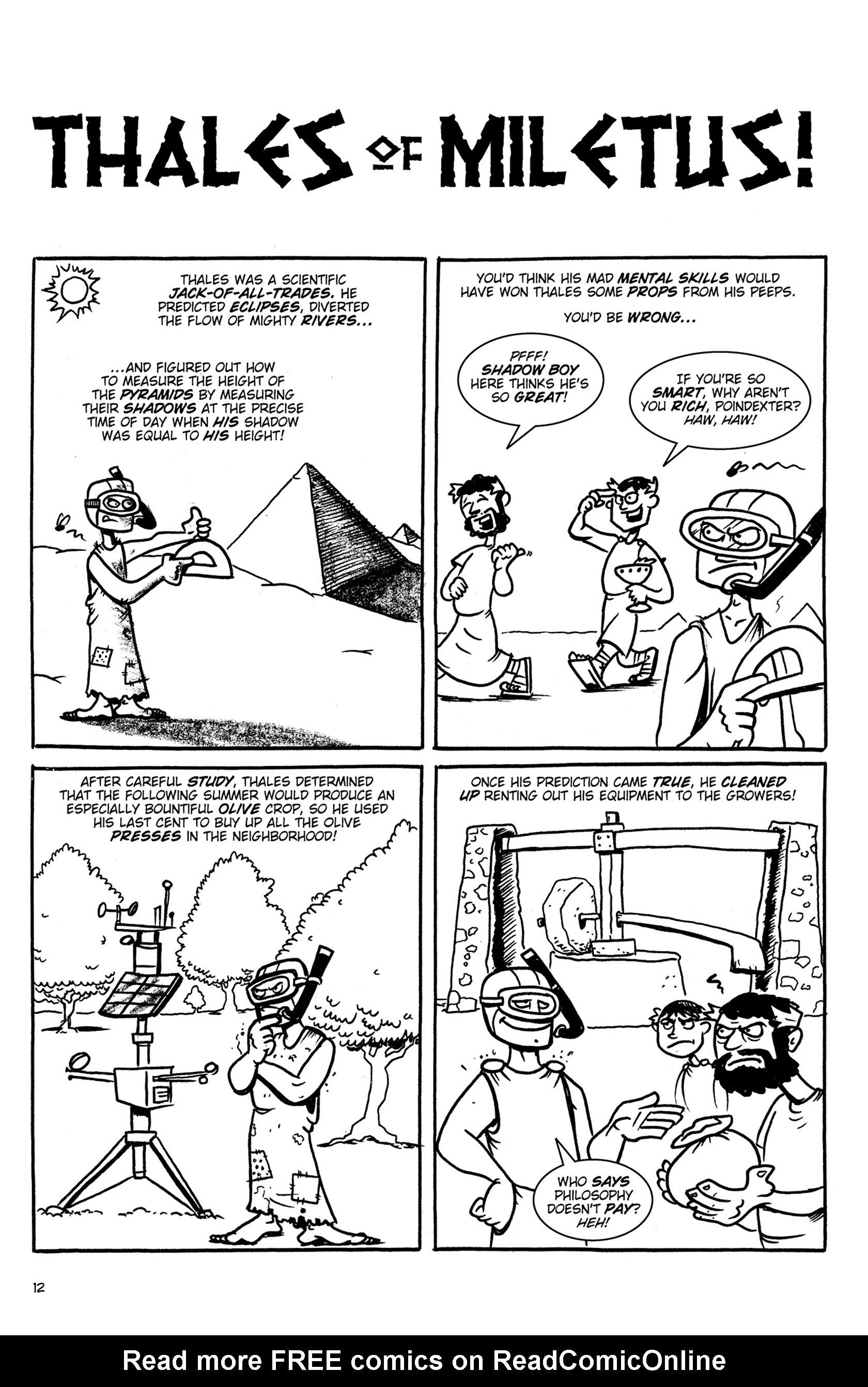 Read online Action Philosophers! comic -  Issue #Action Philosophers! TPB (Part 1) - 12