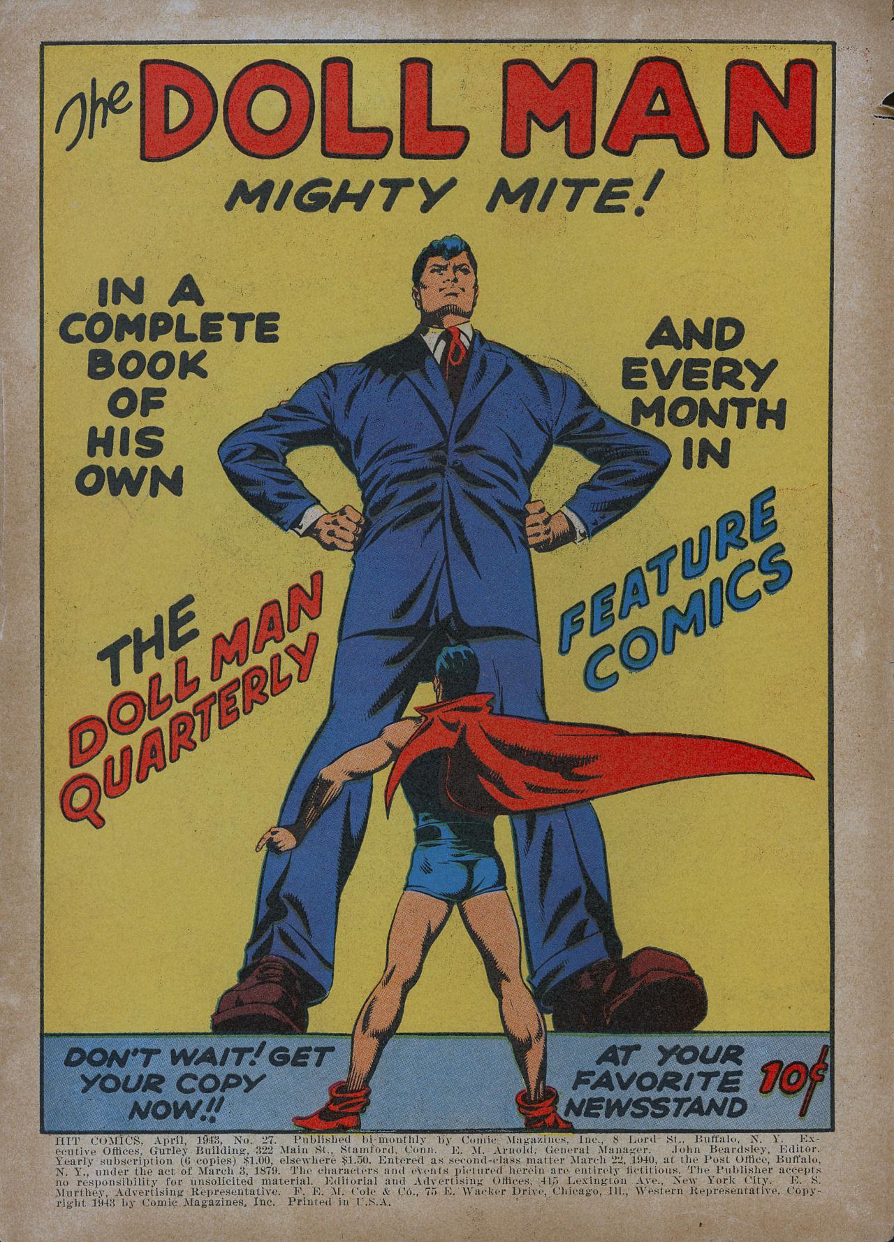 Read online Hit Comics comic -  Issue #27 - 2