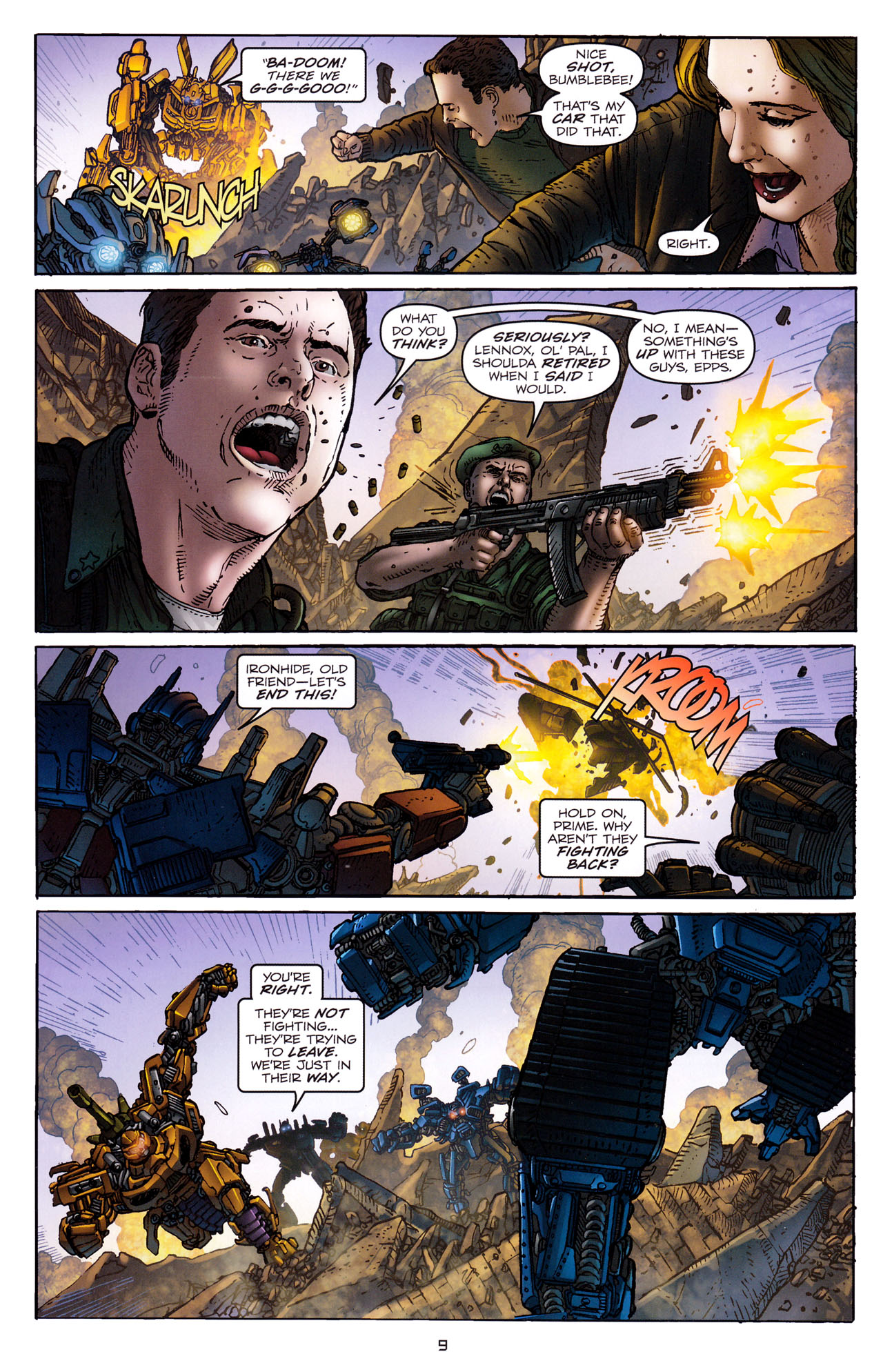 Read online Transformers: Dark of the Moon Rising Storm comic -  Issue #4 - 10