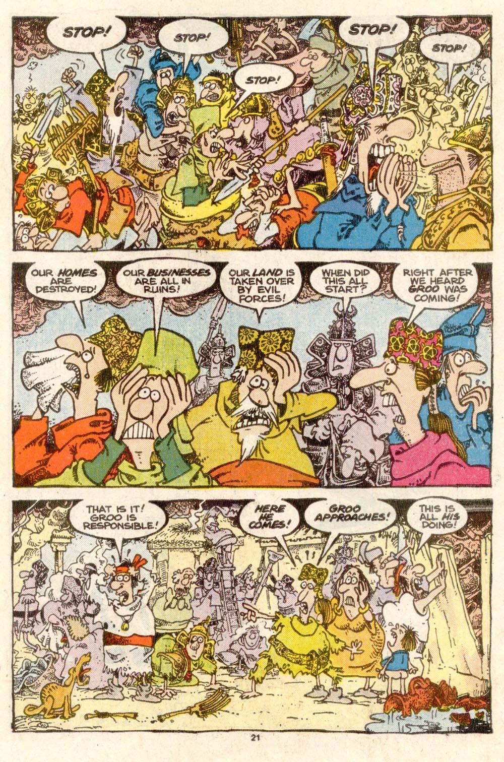 Read online Sergio Aragonés Groo the Wanderer comic -  Issue #37 - 23