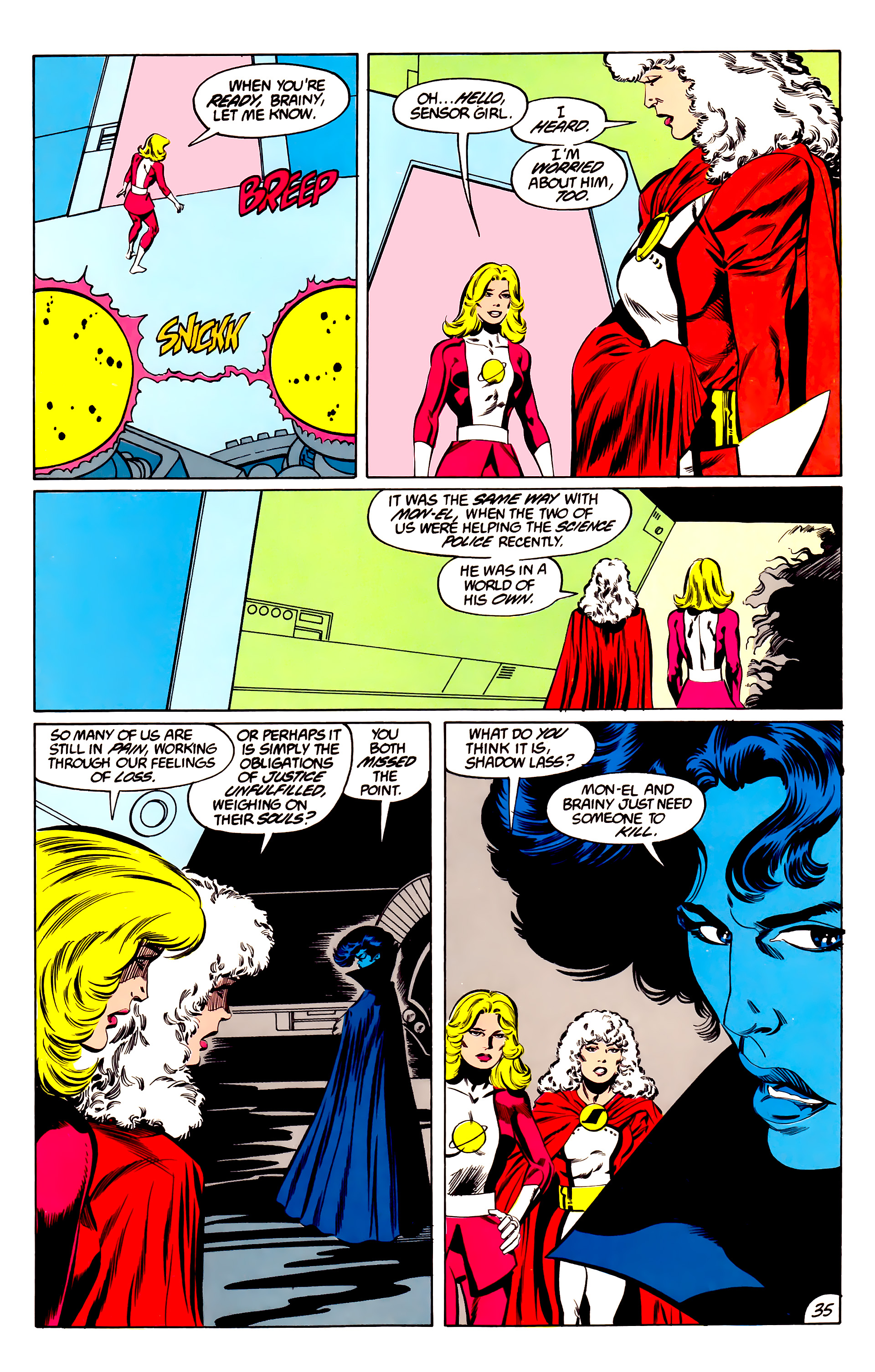 Legion of Super-Heroes (1984) 45 Page 35