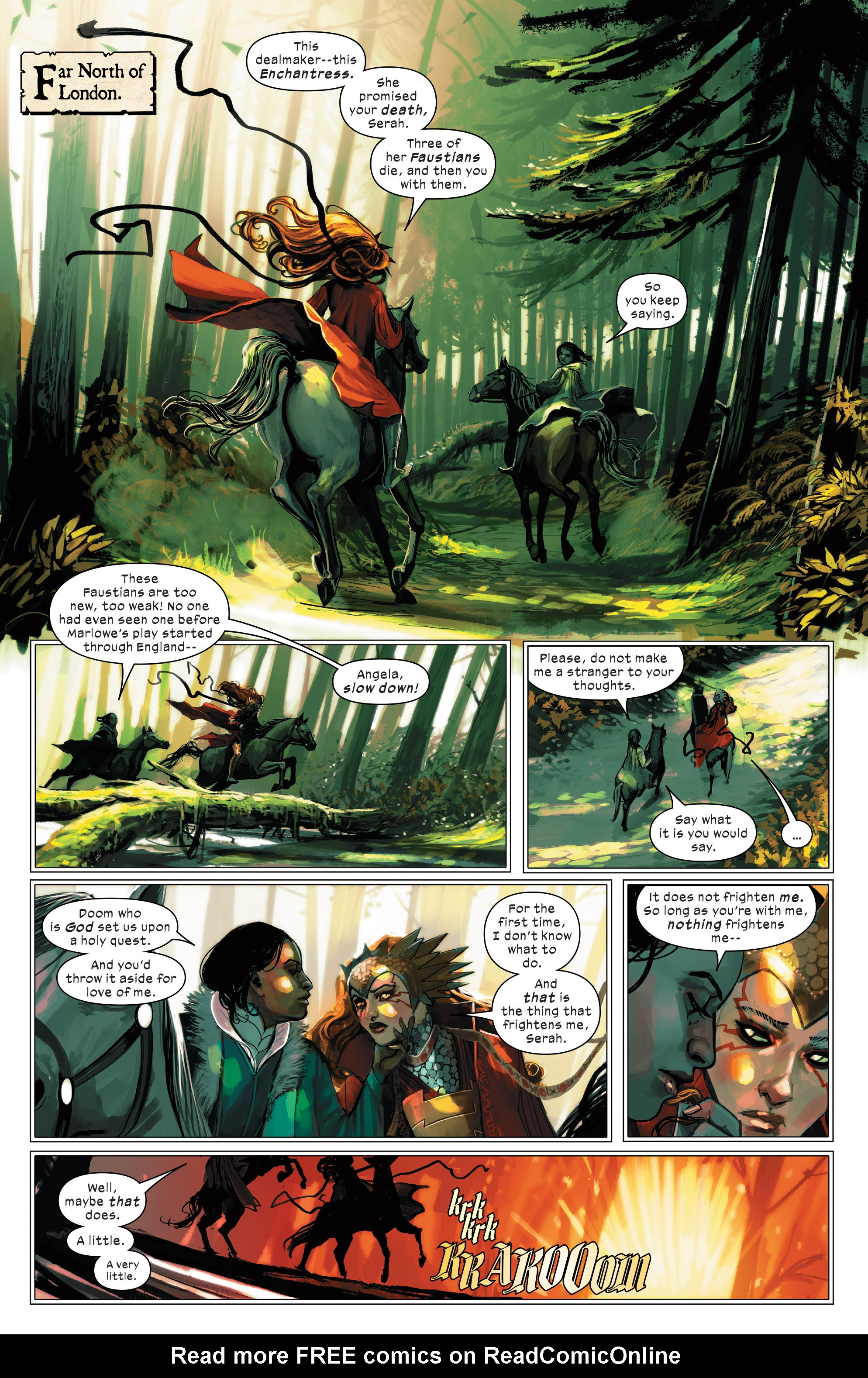 Read online 1602 Witch Hunter Angela comic -  Issue #2 - 4