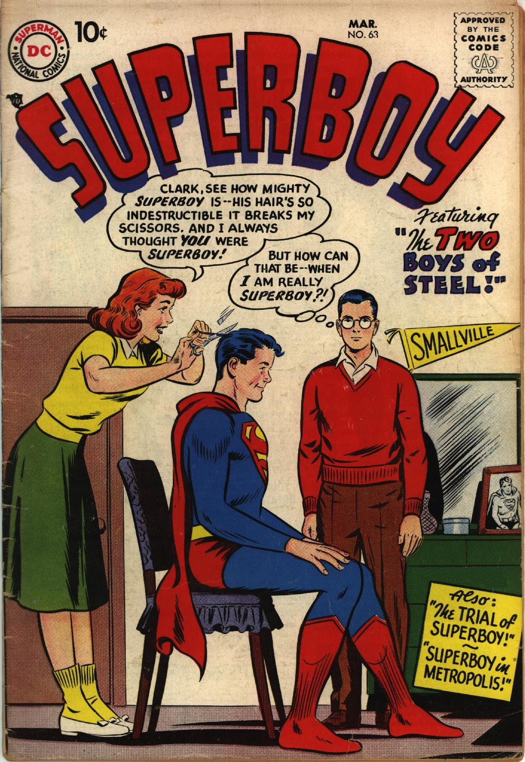 Superboy (1949) issue 63 - Page 1