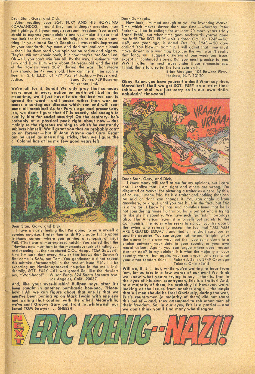Read online Sgt. Fury comic -  Issue #64 - 33