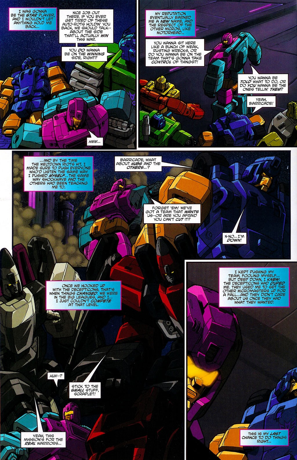 Read online Transformers: Micromasters comic -  Issue #4 - 10