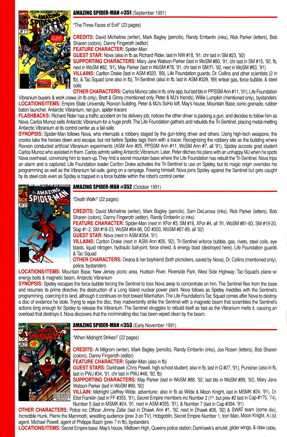 Read online Official Index to the Marvel Universe comic -  Issue #8 - 16