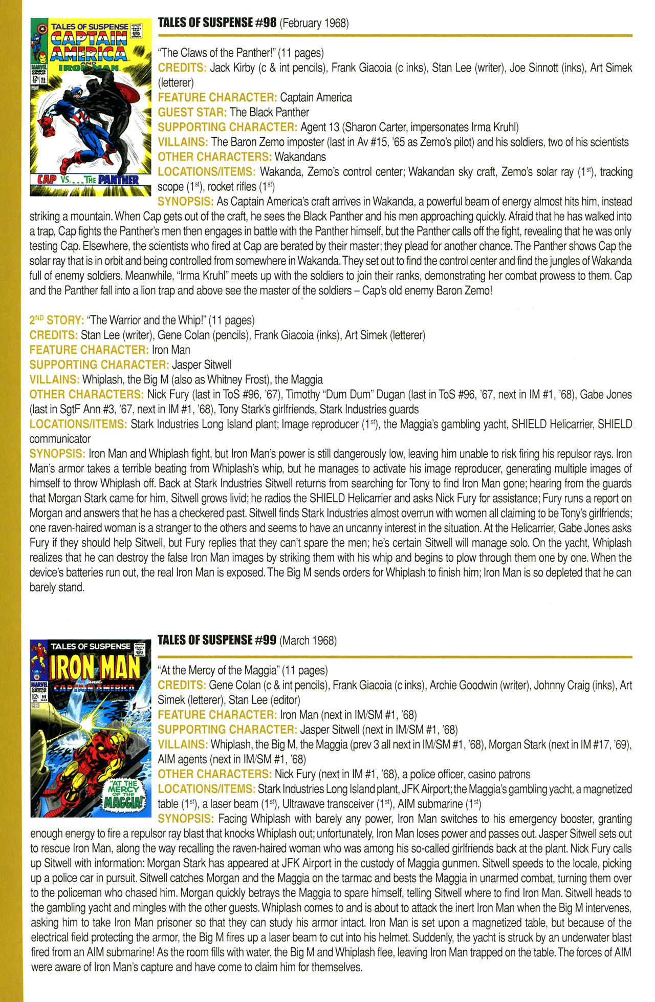 Read online Official Index to the Marvel Universe comic -  Issue #2 - 38