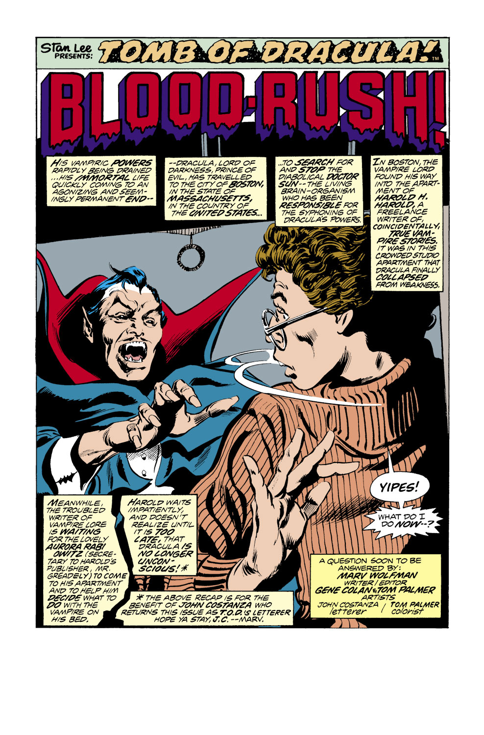 Tomb of Dracula (1972) issue 38 - Page 2