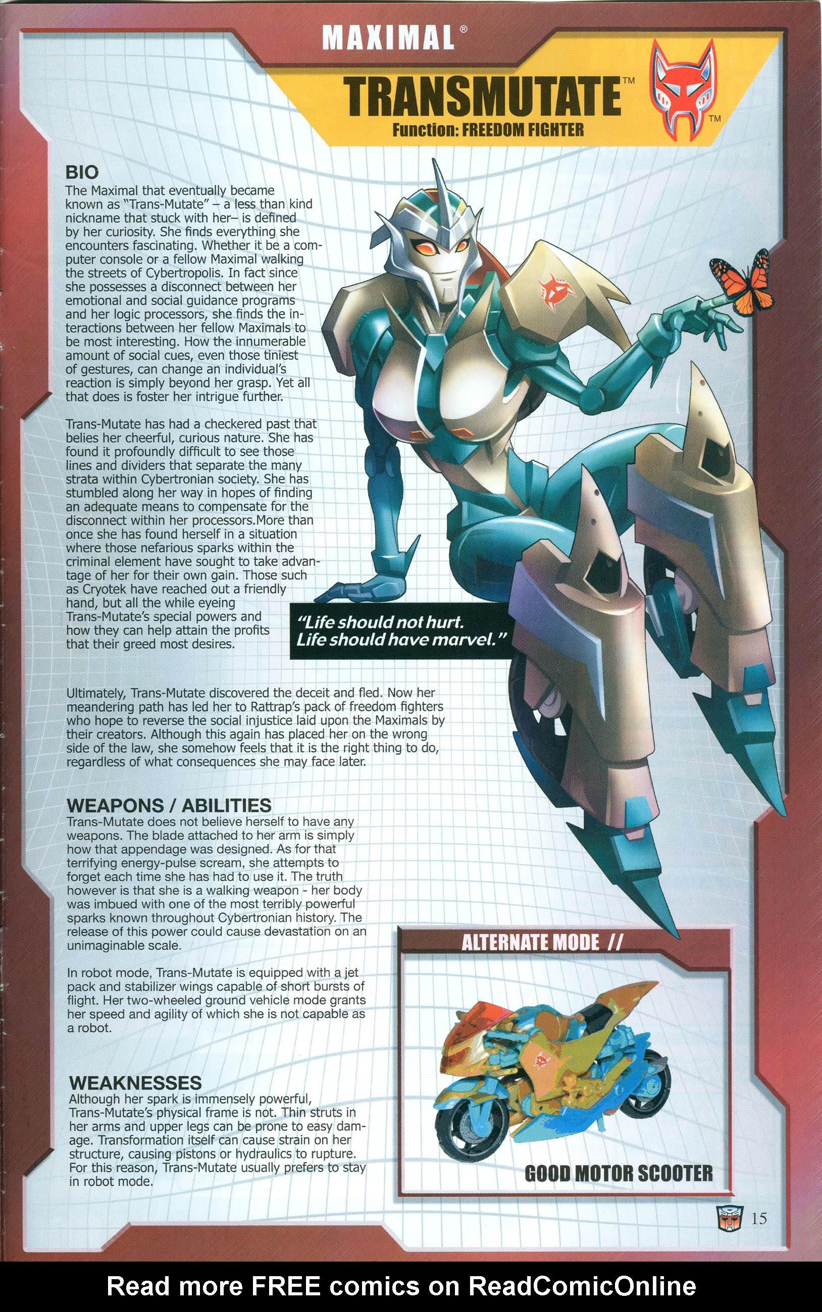 Read online Transformers: Collectors' Club comic -  Issue #55 - 15