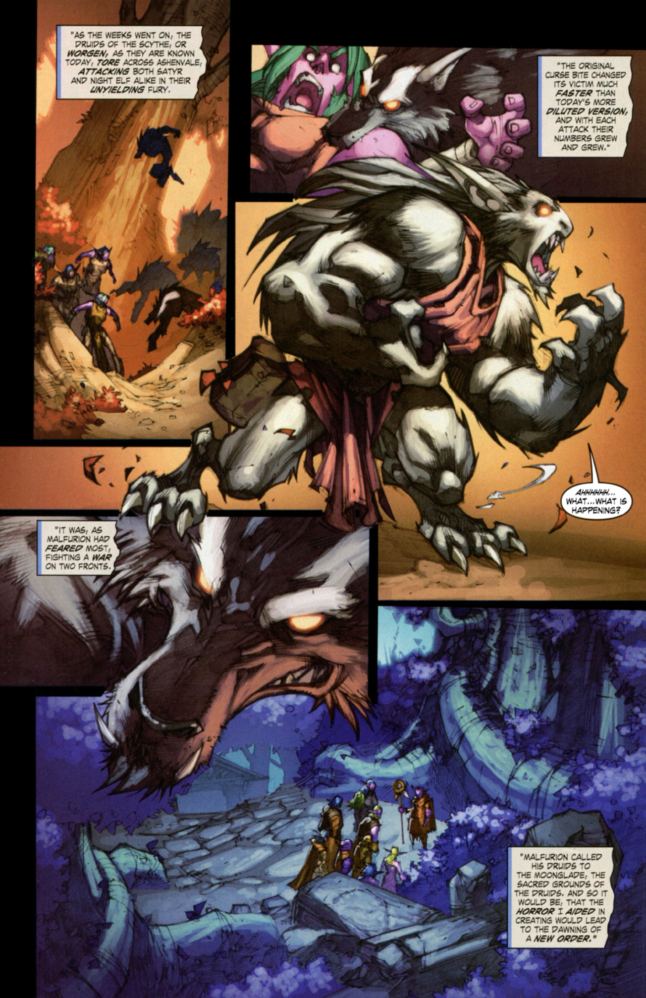 Read online World of Warcraft: Curse of the Worgen comic -  Issue #3 - 24