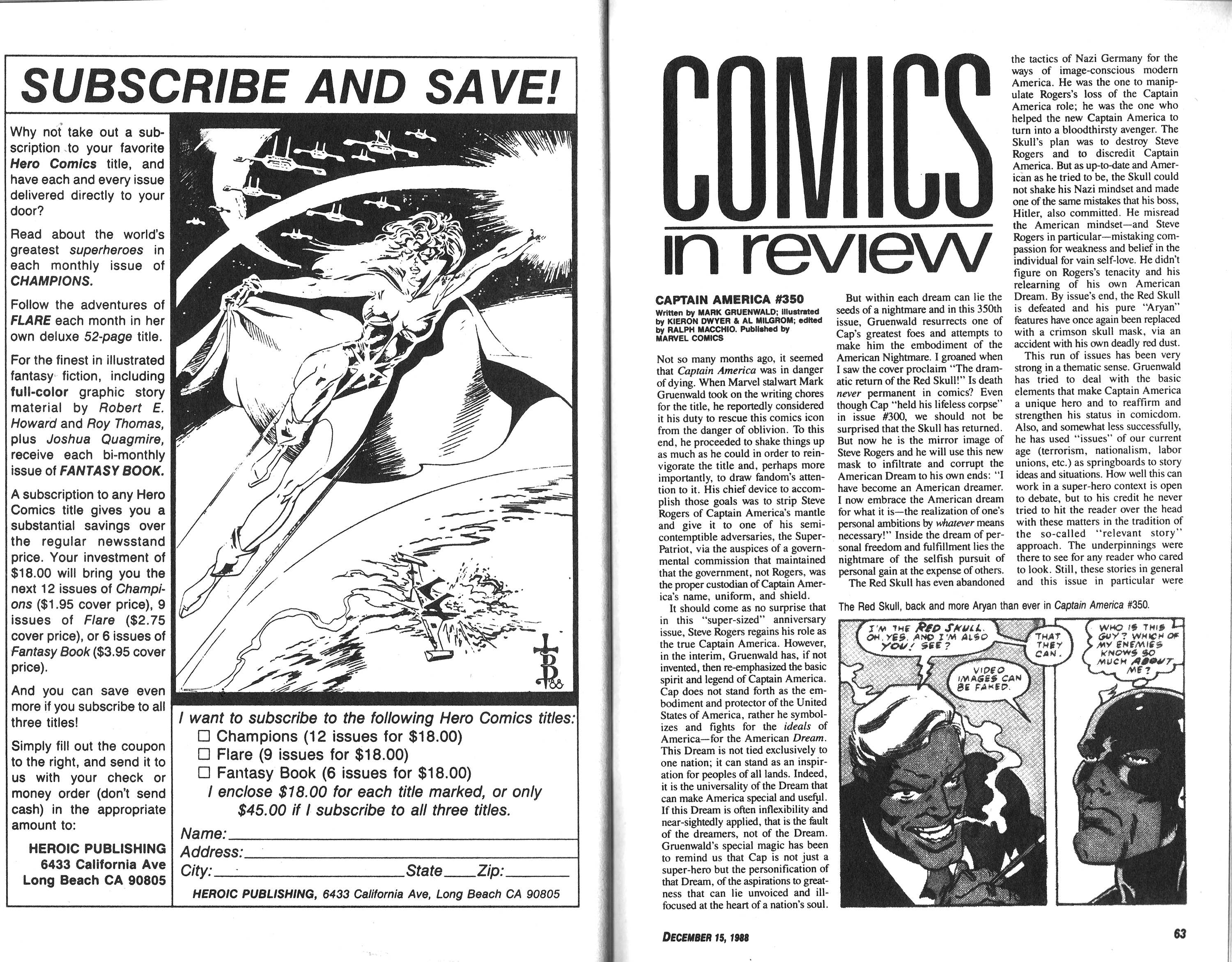 Read online Amazing Heroes comic -  Issue #155 - 32