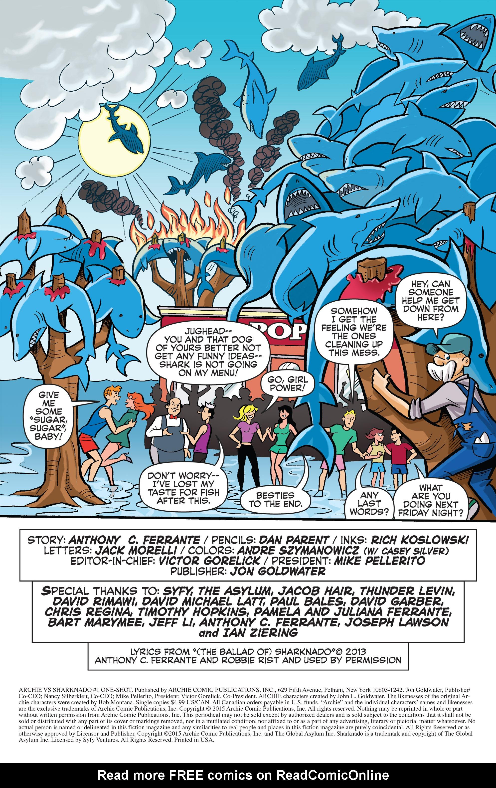 Read online Archie vs. Sharknado comic -  Issue #Archie vs. Sharknado Full - 41