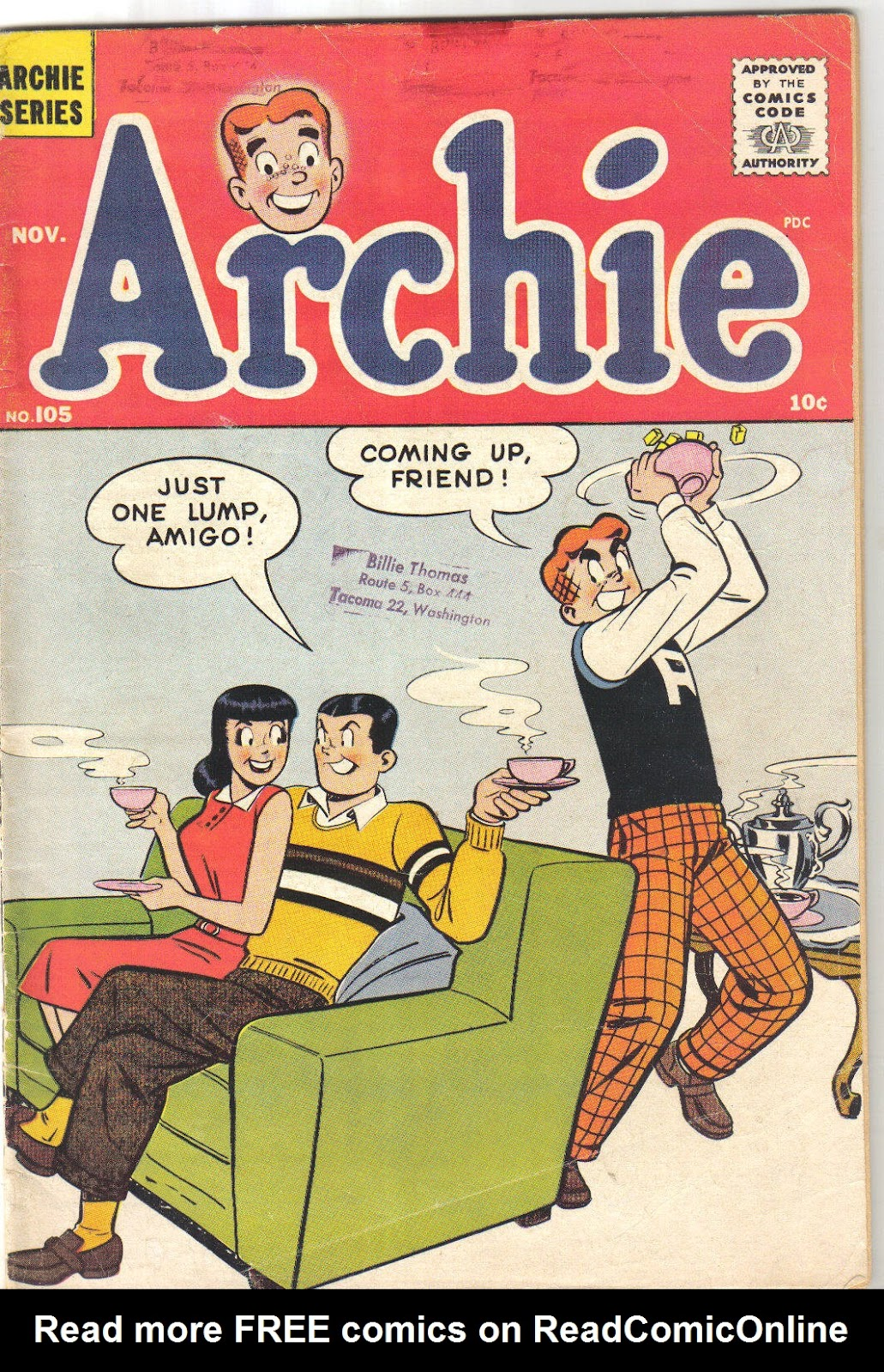 Archie Comics issue 105 - Page 1