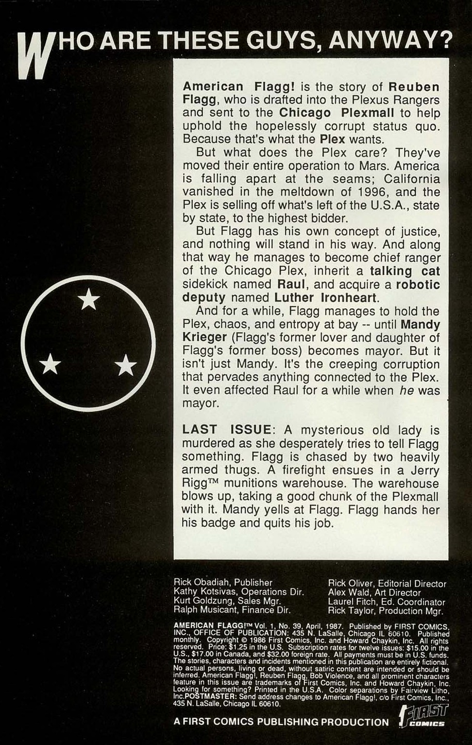 American Flagg! issue 39 - Page 2