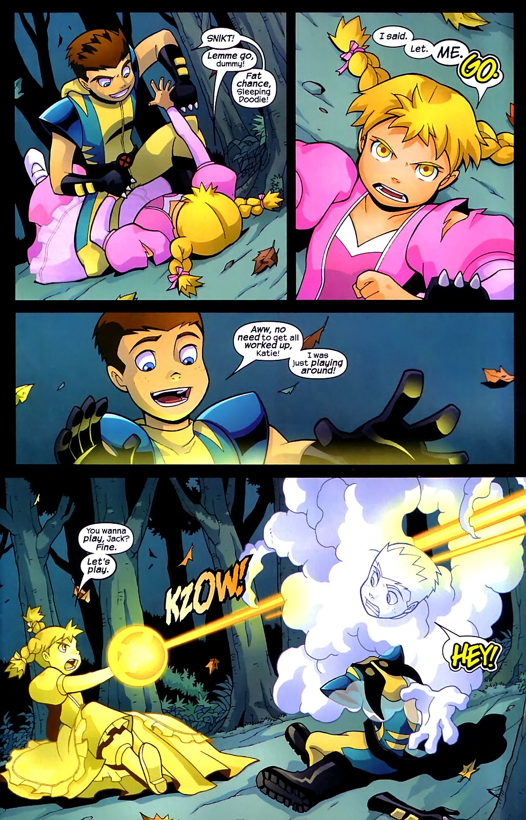 Read online X-Men and Power Pack comic -  Issue #1 - 4