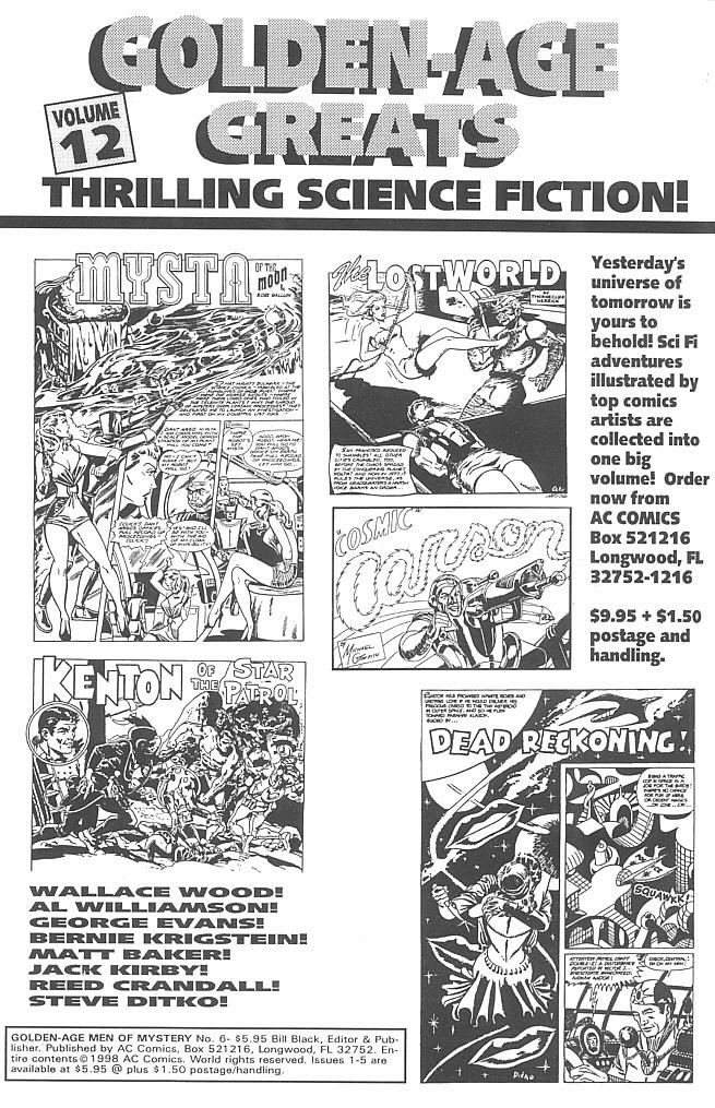 Read online Golden-Age Men of Mystery comic -  Issue #6 - 2