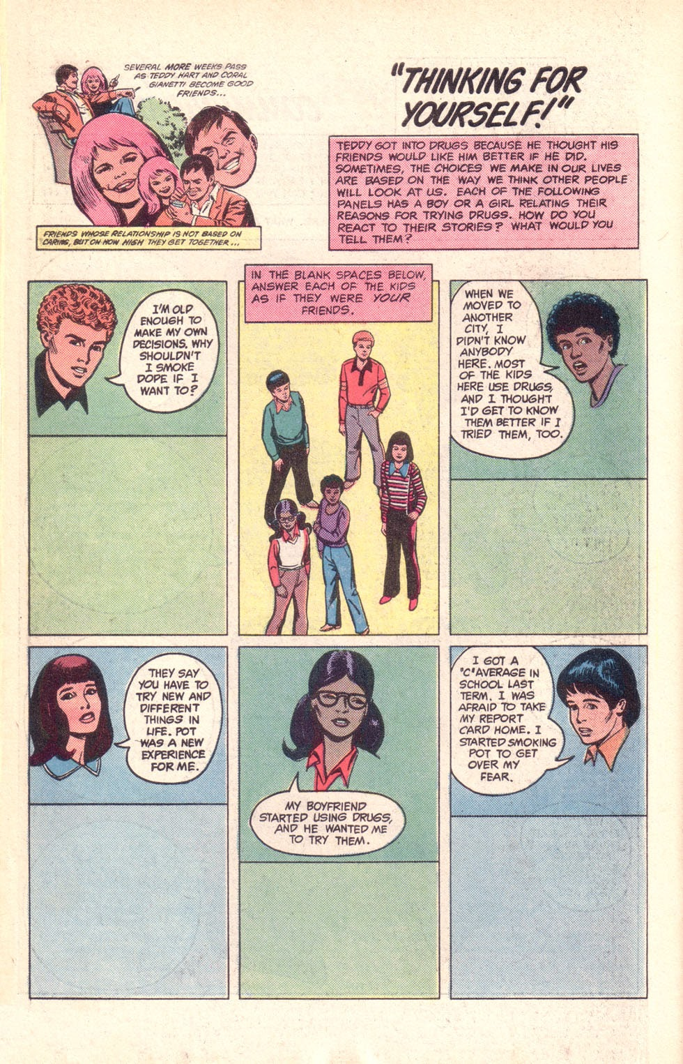 Read online The New Teen Titans (Drug Awareness Specials) comic -  Issue #1 - 34