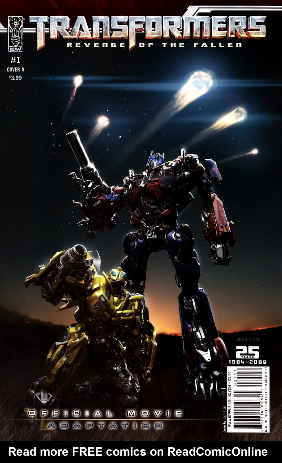 Transformers: Revenge of the Fallen — Official Movie Adaptation issue 1 - Page 1