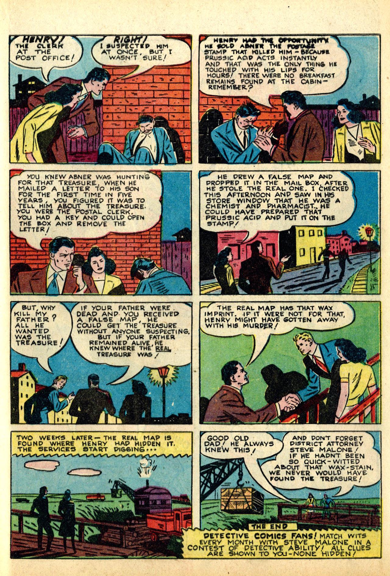 Read online Detective Comics (1937) comic -  Issue #50 - 57