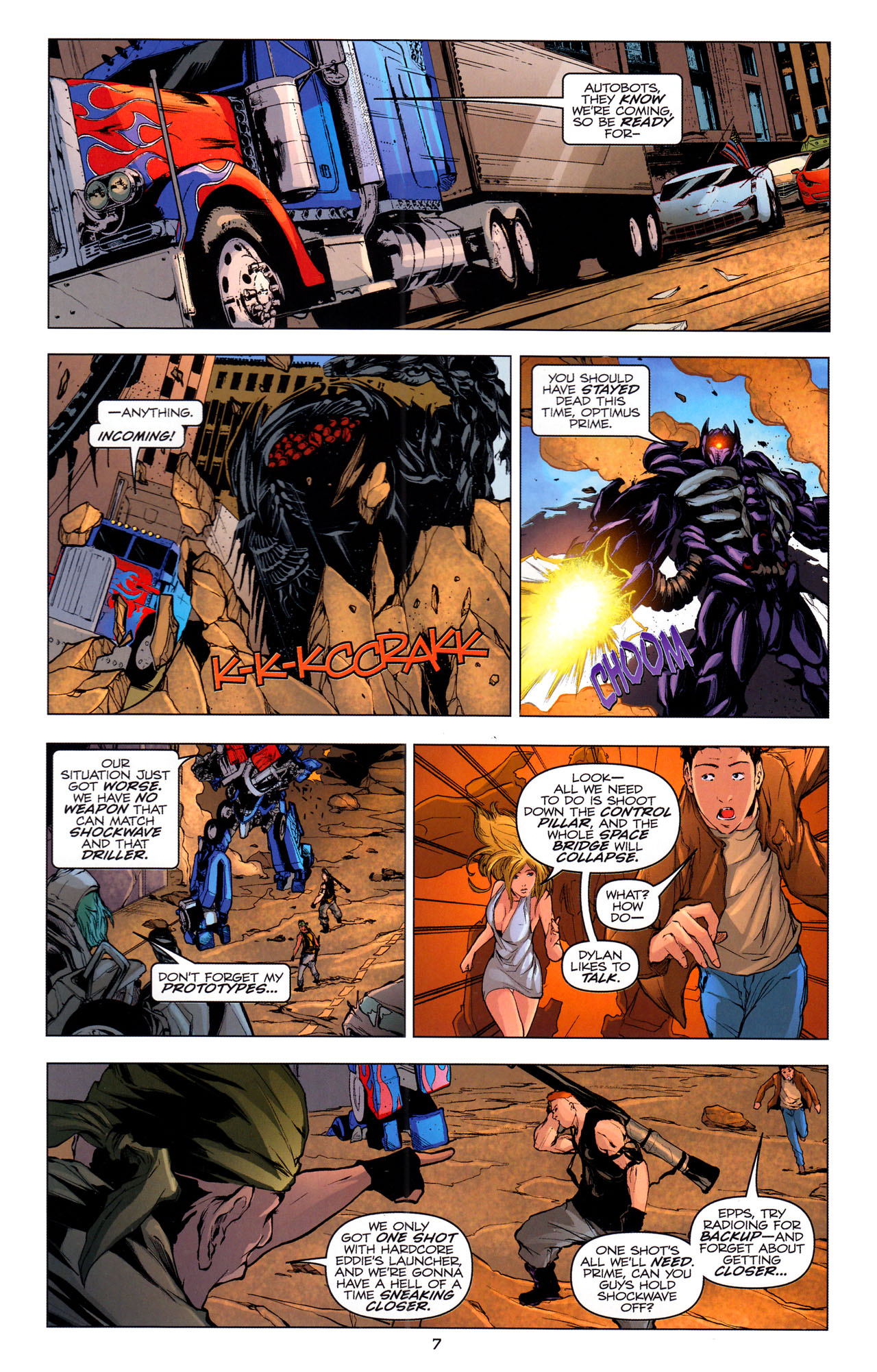 Read online Transformers: Dark of the Moon Movie Adaptation comic -  Issue #4 - 9