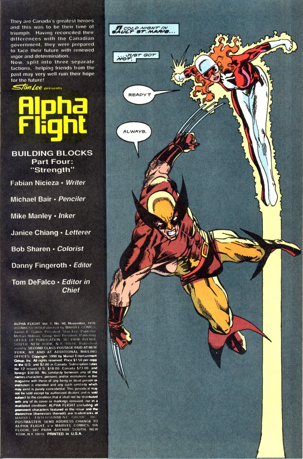 Read online Alpha Flight (1983) comic -  Issue #90 - 2