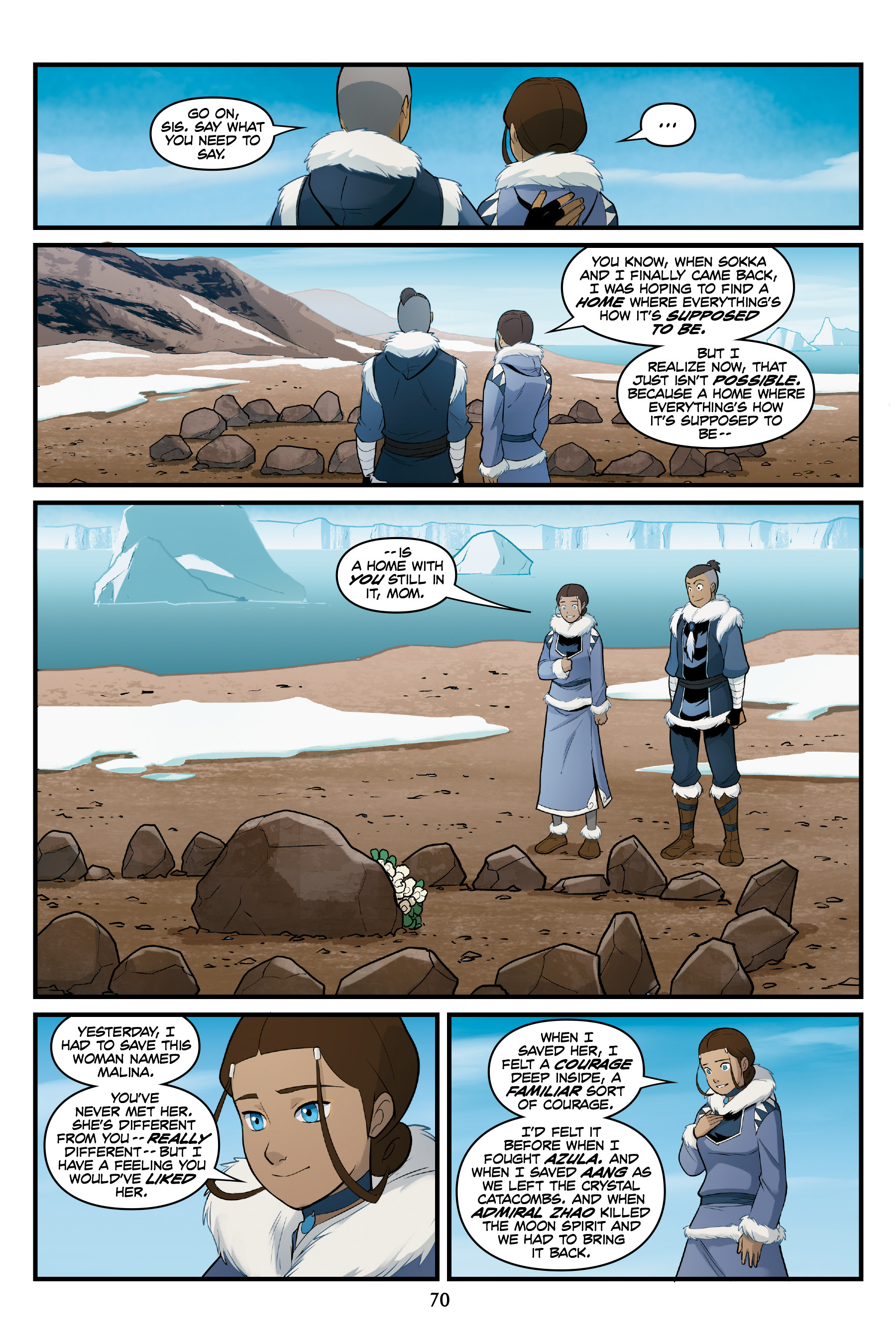 Read online Nickelodeon Avatar: The Last Airbender - North and South comic -  Issue #3 - 69