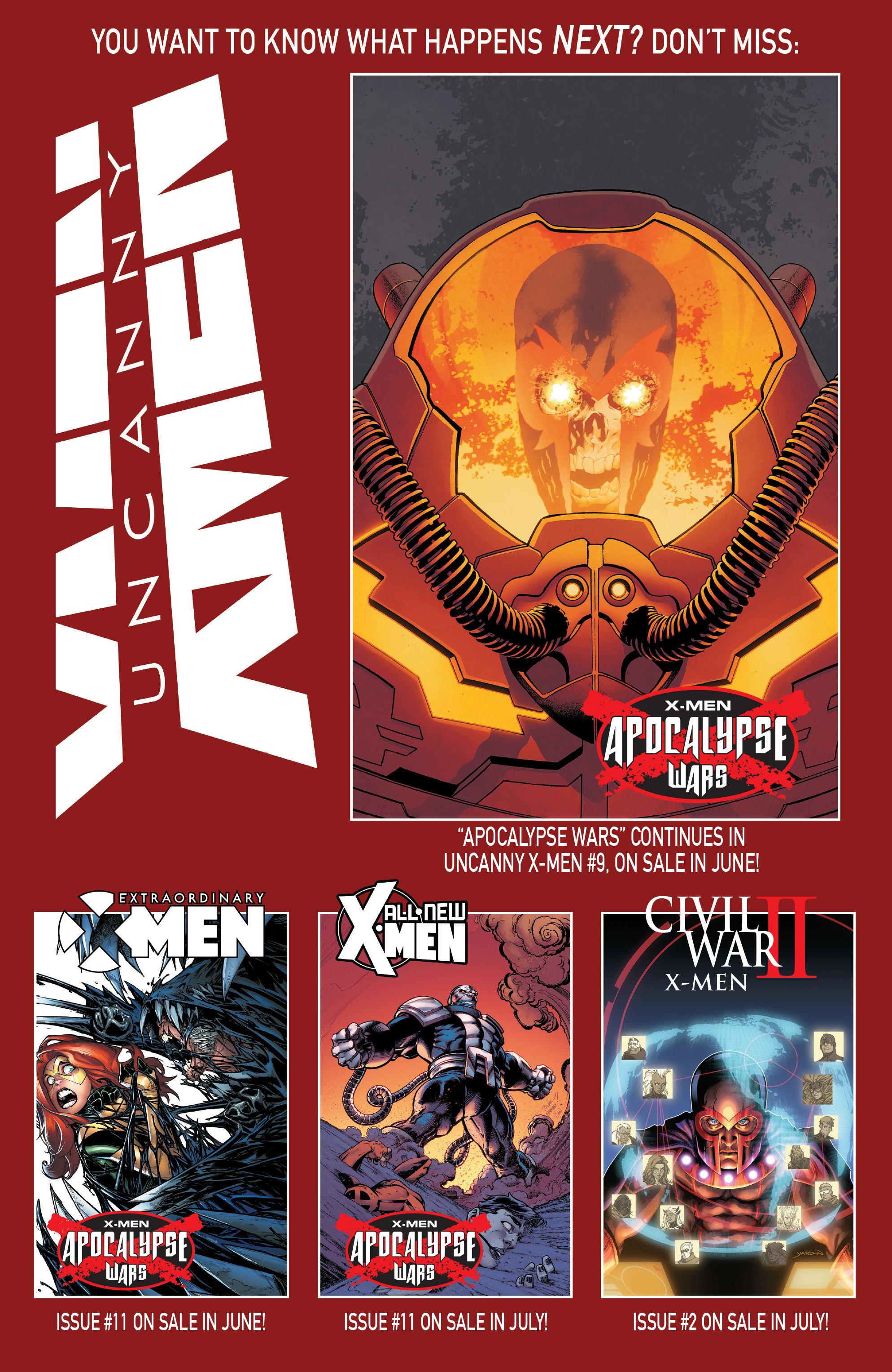 Read online Uncanny X-Men (2016) comic -  Issue #8 - 22