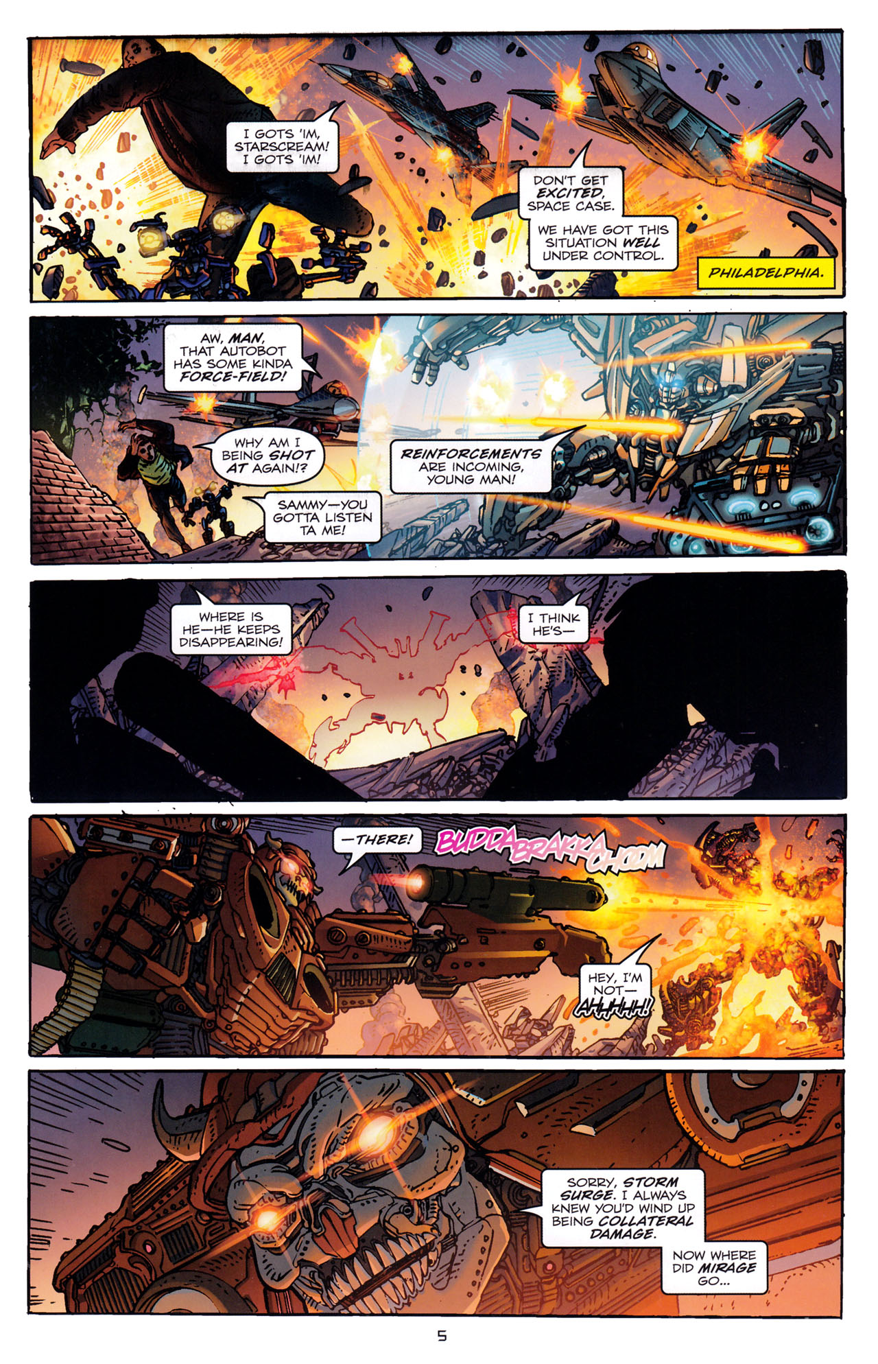 Read online Transformers: Dark of the Moon Rising Storm comic -  Issue #3 - 7