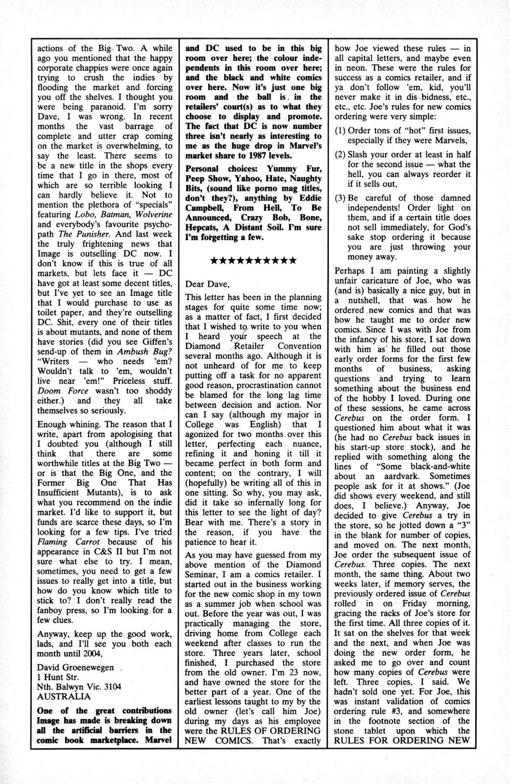 Cerebus Issue #163 #162 - English 26