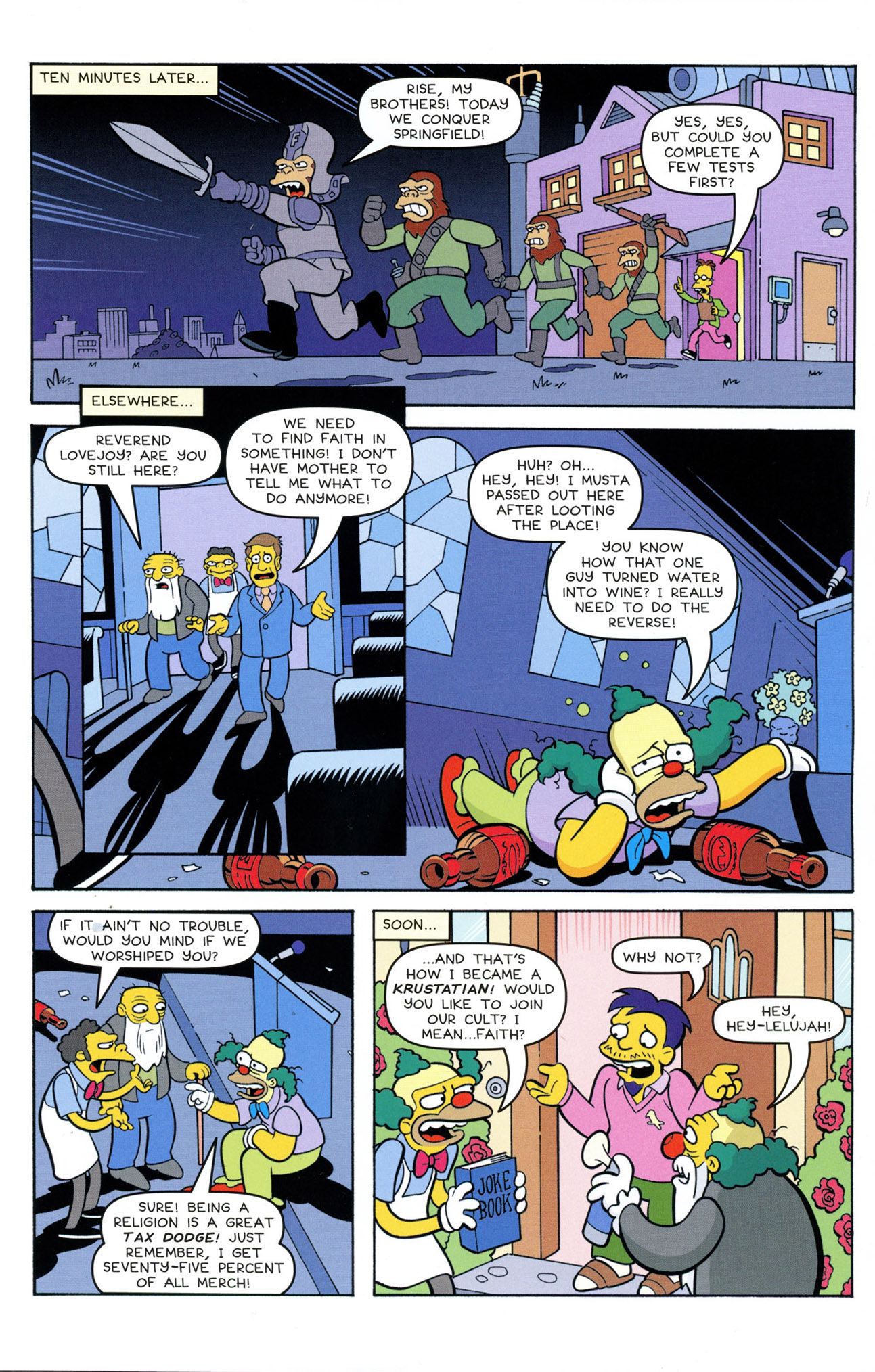 Read online Treehouse of Horror comic -  Issue #21 - 23