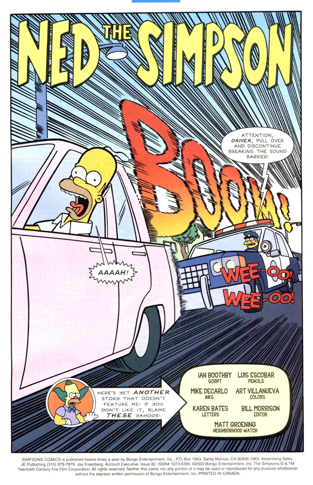 Read online Simpsons Comics comic -  Issue #82 - 2