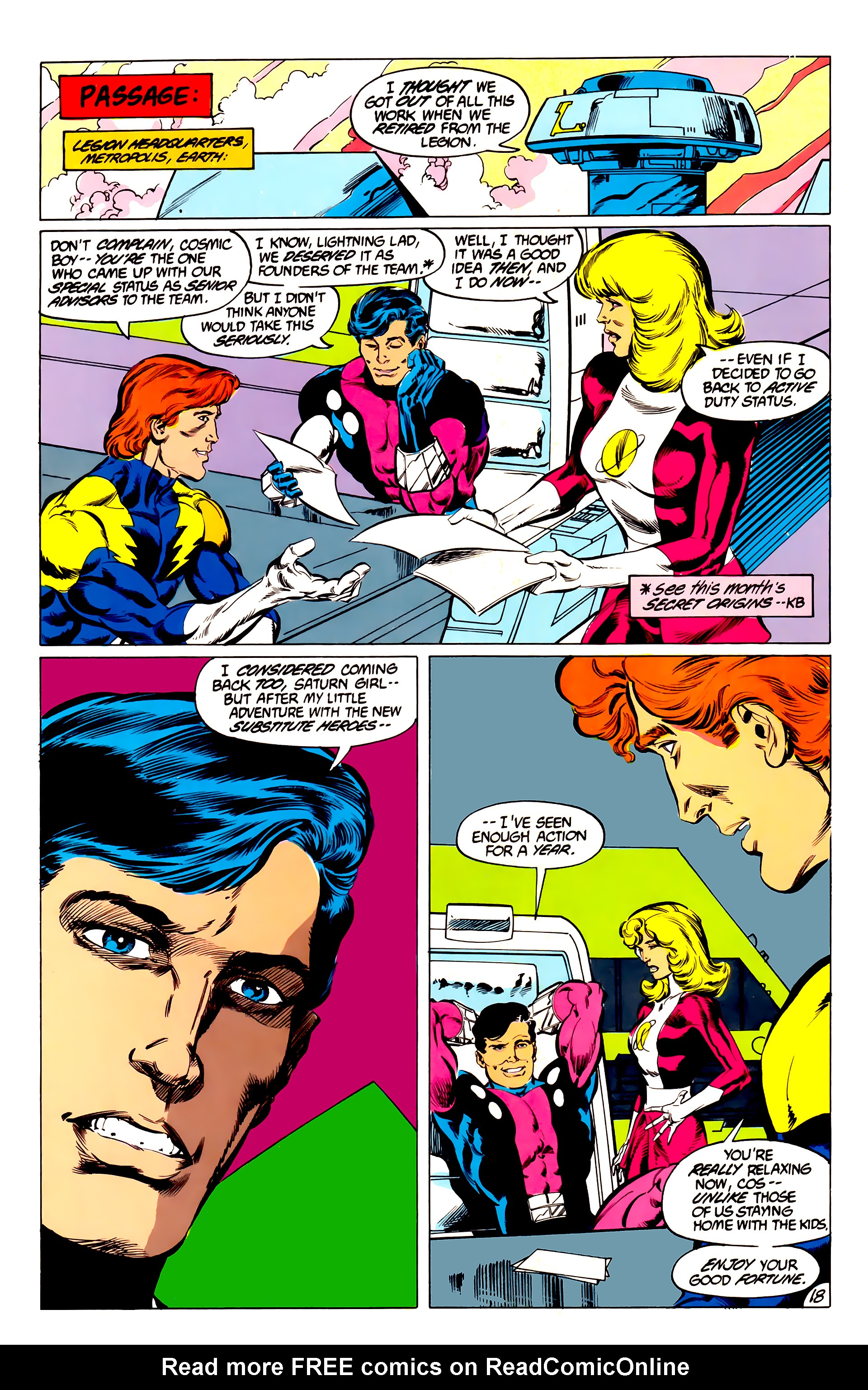 Legion of Super-Heroes (1984) 45 Page 18