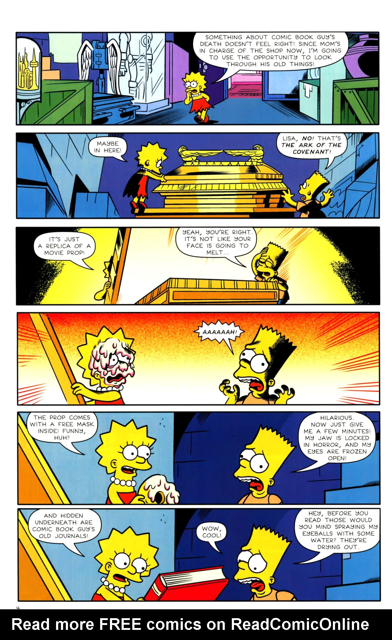 Read online Bongo Comics presents Comic Book Guy: The Comic Book comic -  Issue #4 - 6