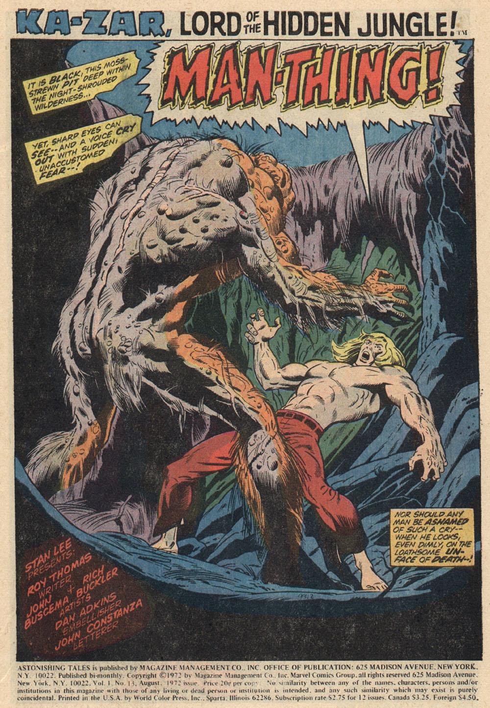 Read online Astonishing Tales (1970) comic -  Issue #13 - 2